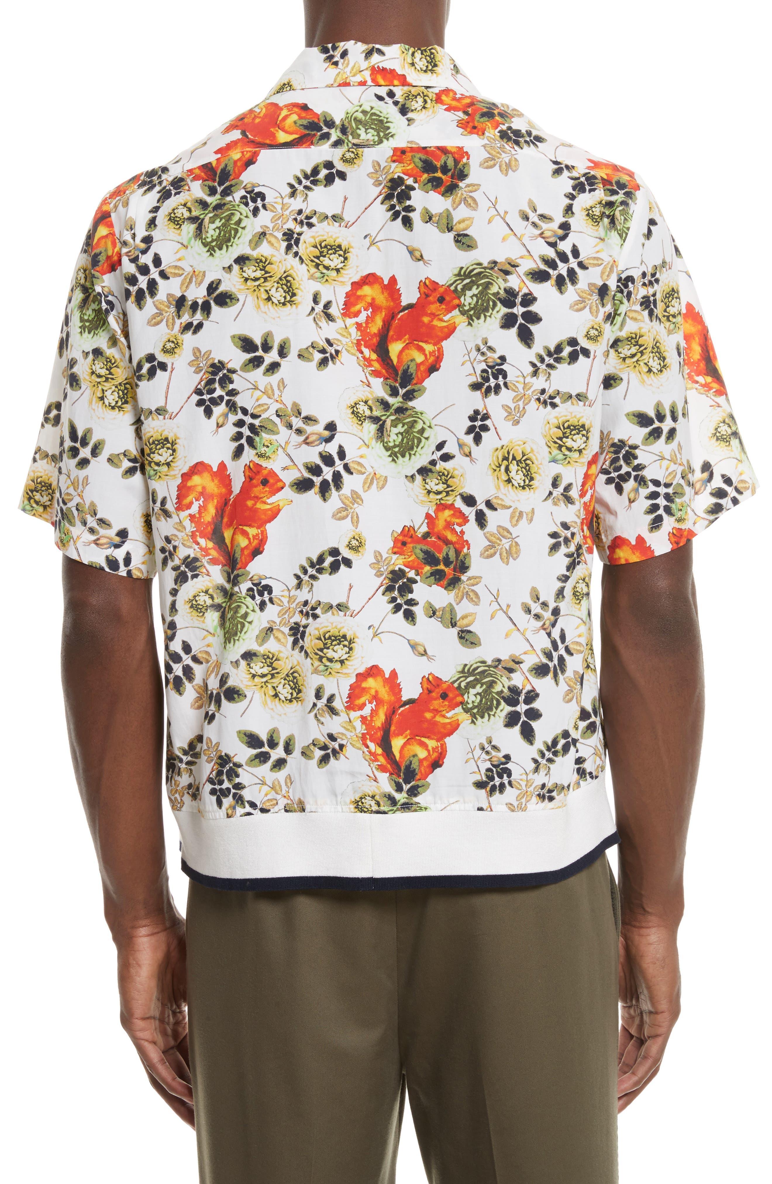 Floral Souvenir Shirt,                             Alternate thumbnail 3, color,                             191