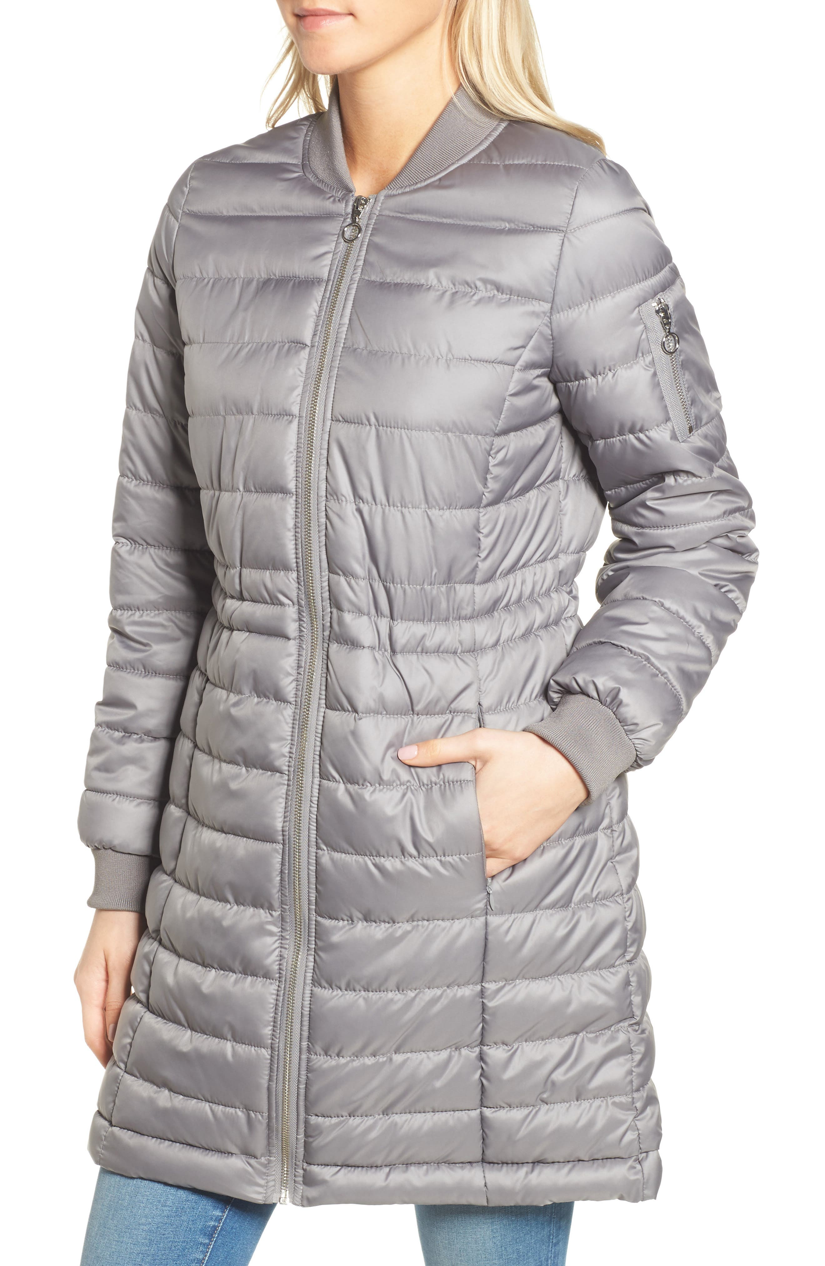 Lightweight Quilted Puffer Coat,                             Alternate thumbnail 14, color,
