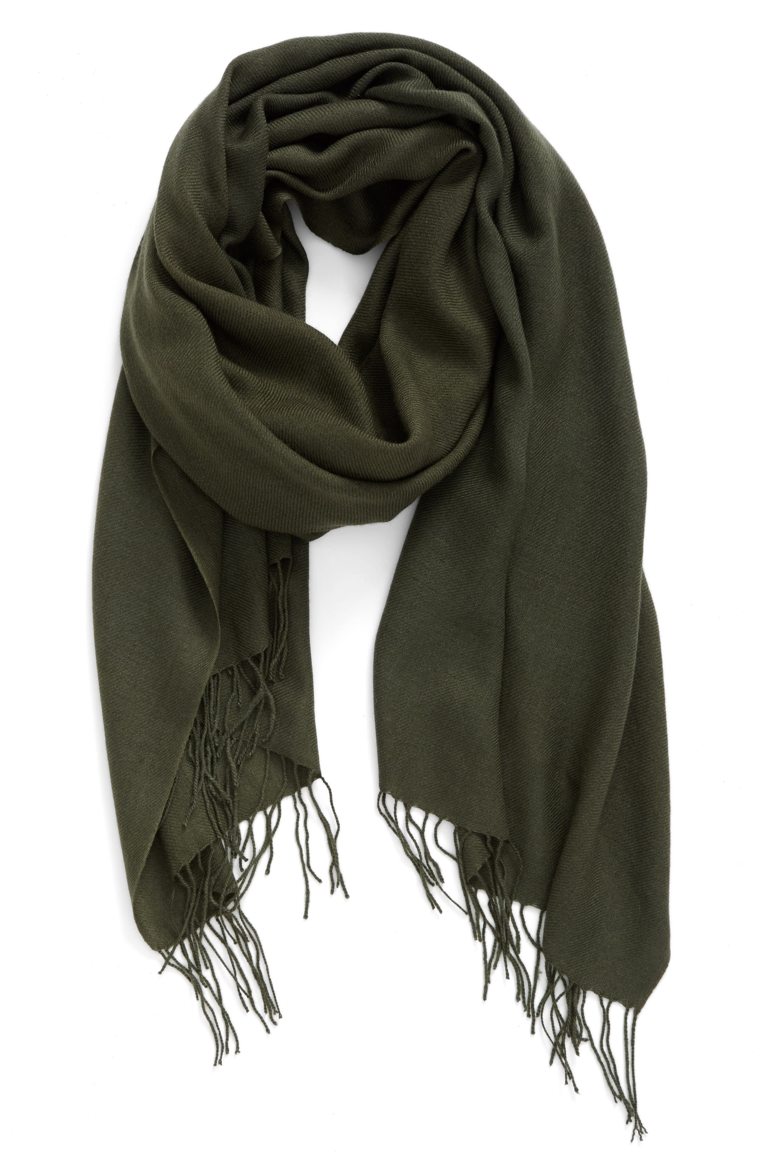 Tissue Weight Wool & Cashmere Scarf,                             Main thumbnail 26, color,