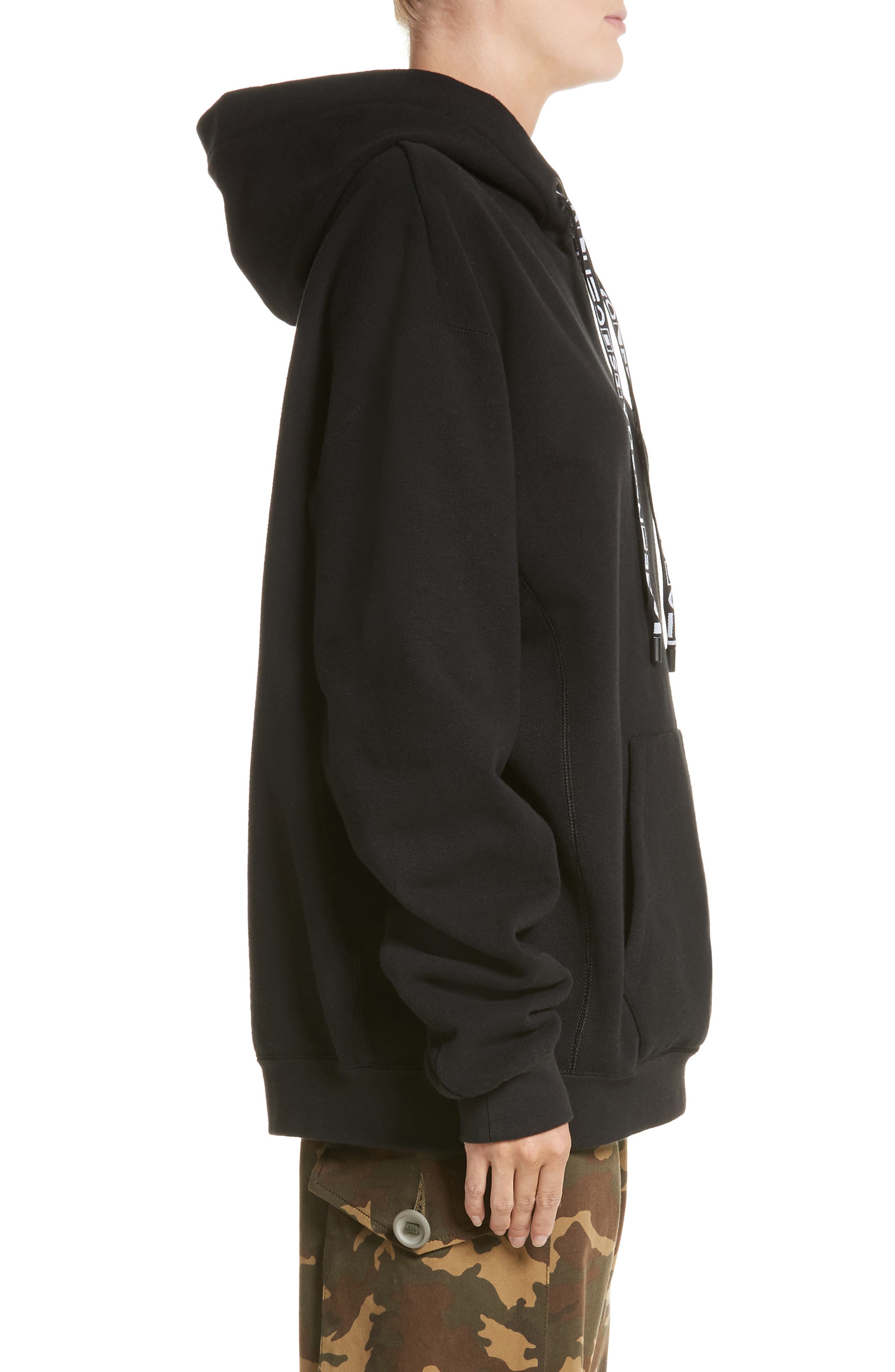 PSWL Graphic Drawstring Hoodie,                             Alternate thumbnail 3, color,                             BLACK