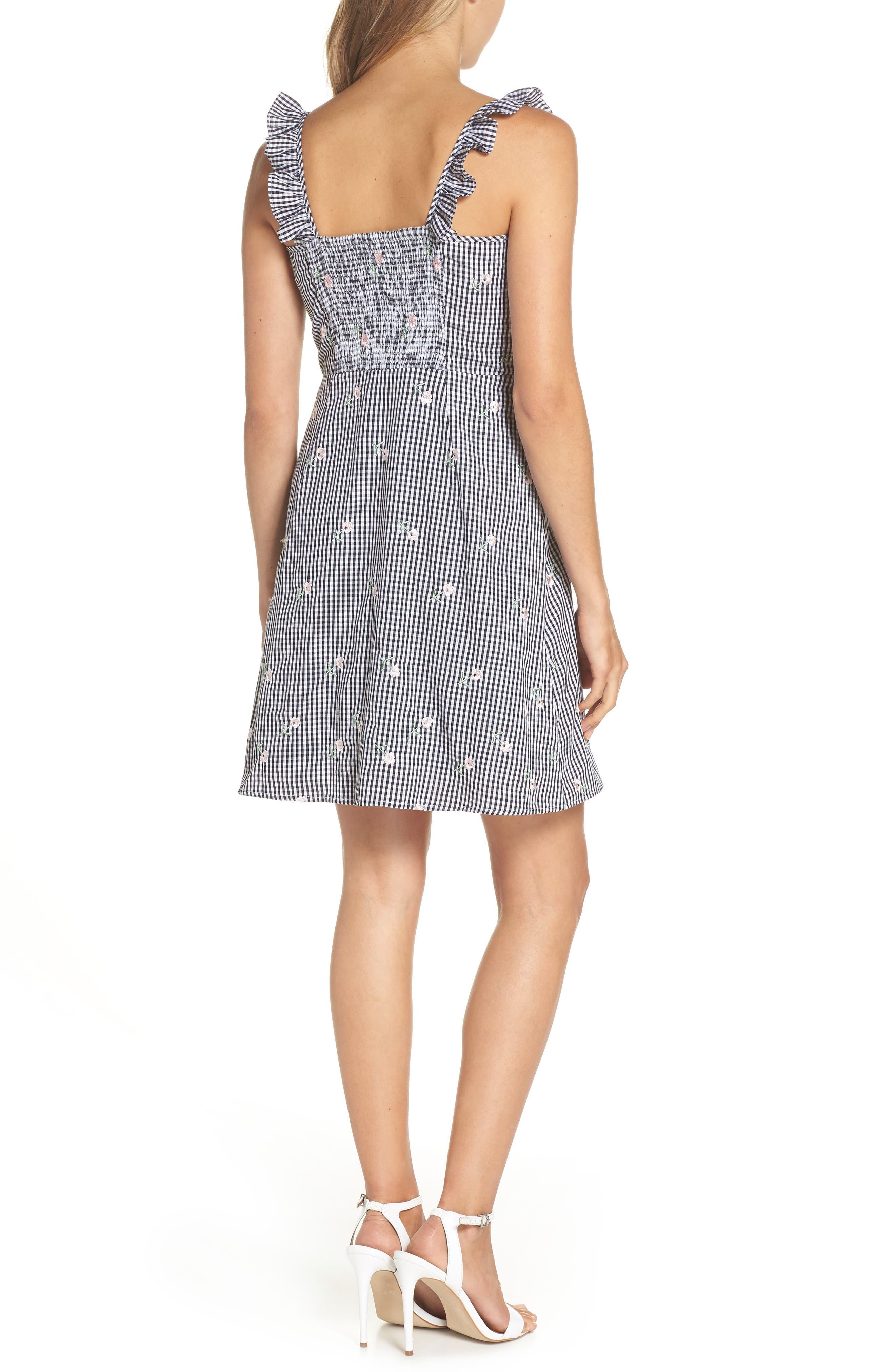 Jilly A-Line Cotton Dress,                             Alternate thumbnail 2, color,                             100