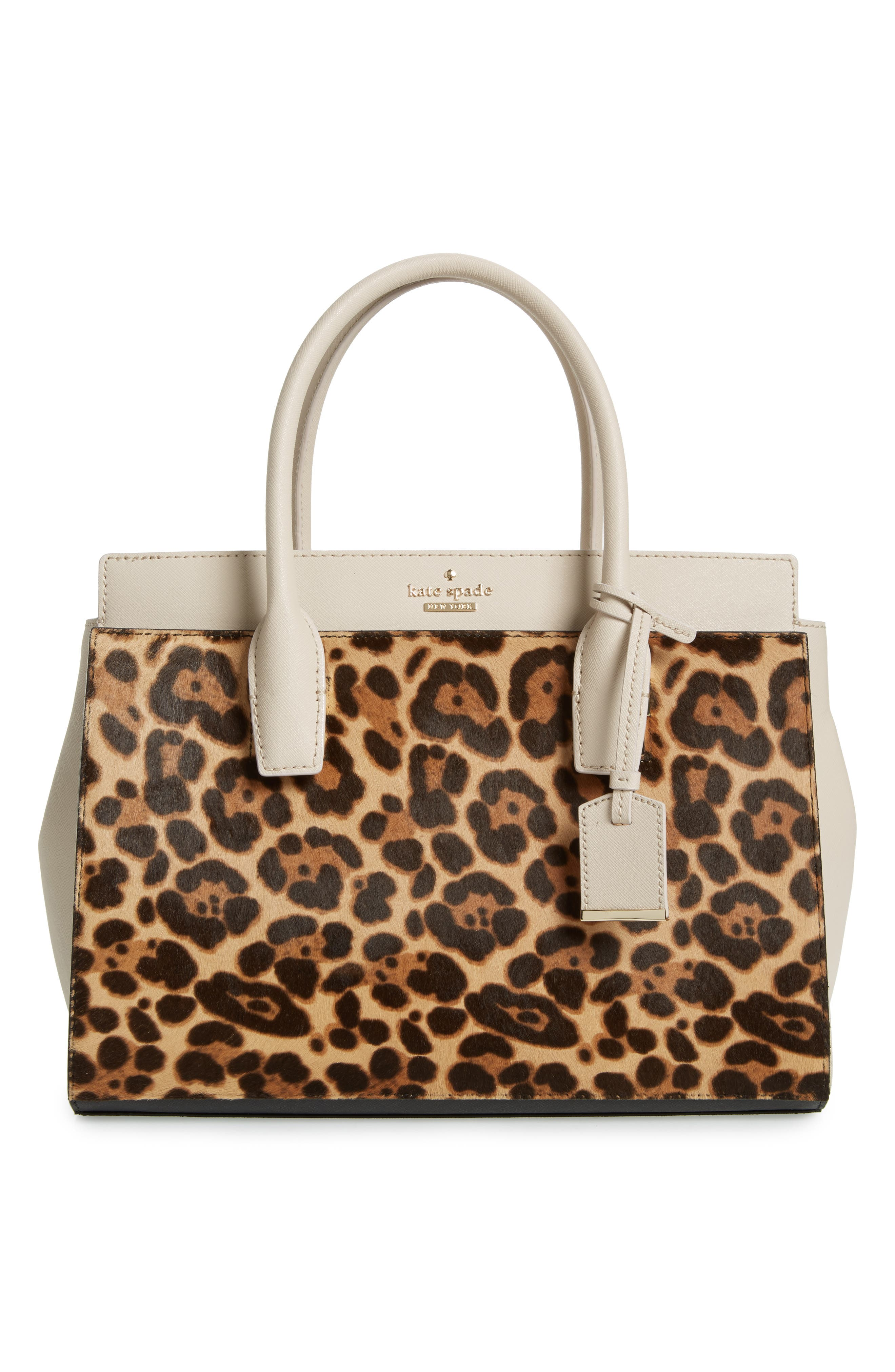 make it mine reversible solid leather/leopard-print genuine calf hair snap-on accent flap,                             Alternate thumbnail 2, color,                             200