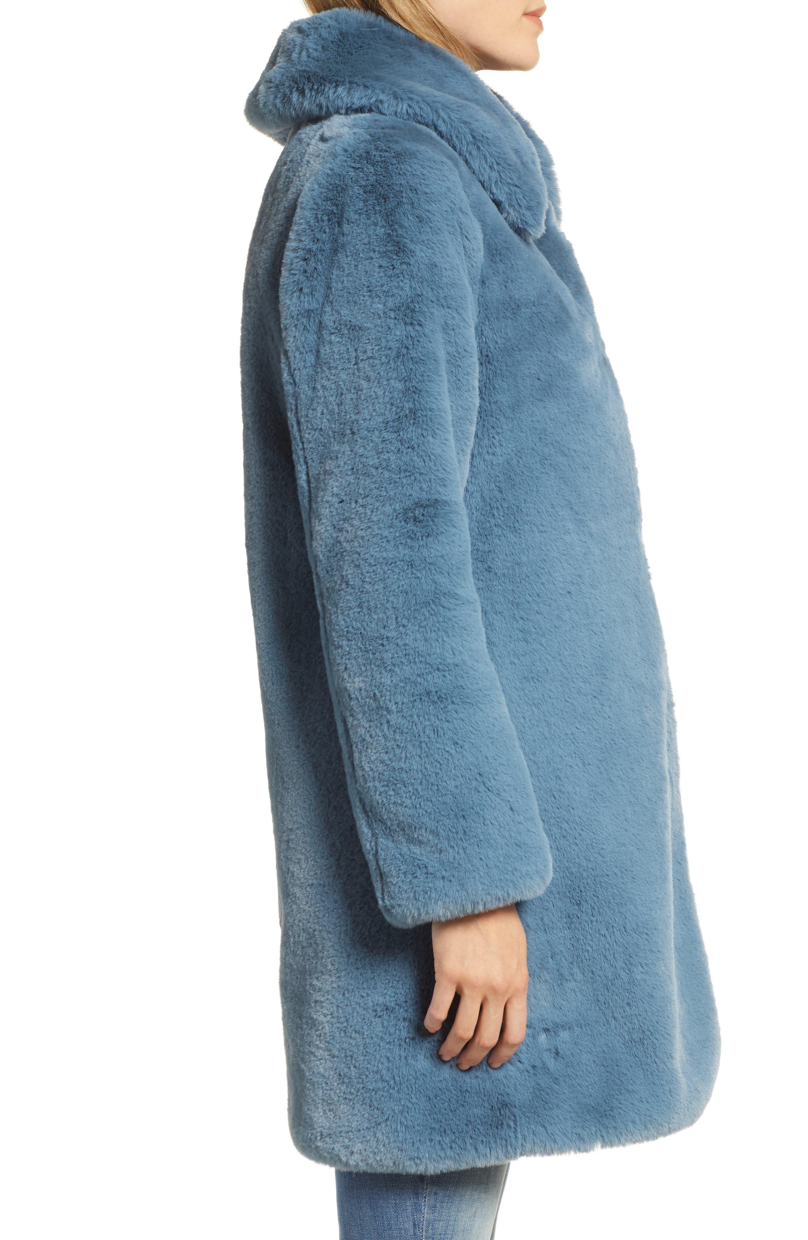 Faux Fur Coat,                             Alternate thumbnail 3, color,                             250