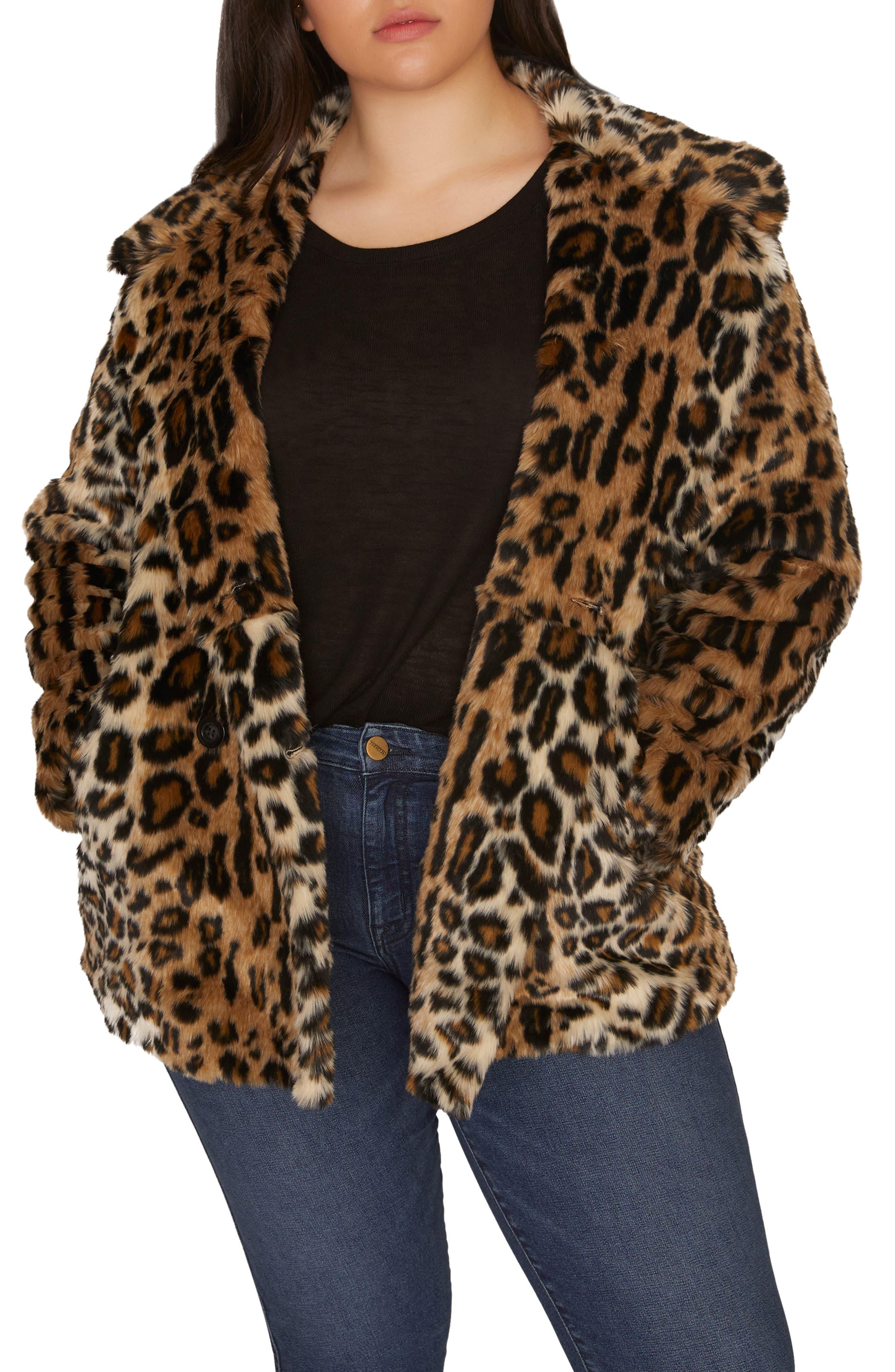 Seeing Spots Faux Fur Coat,                             Main thumbnail 1, color,                             200