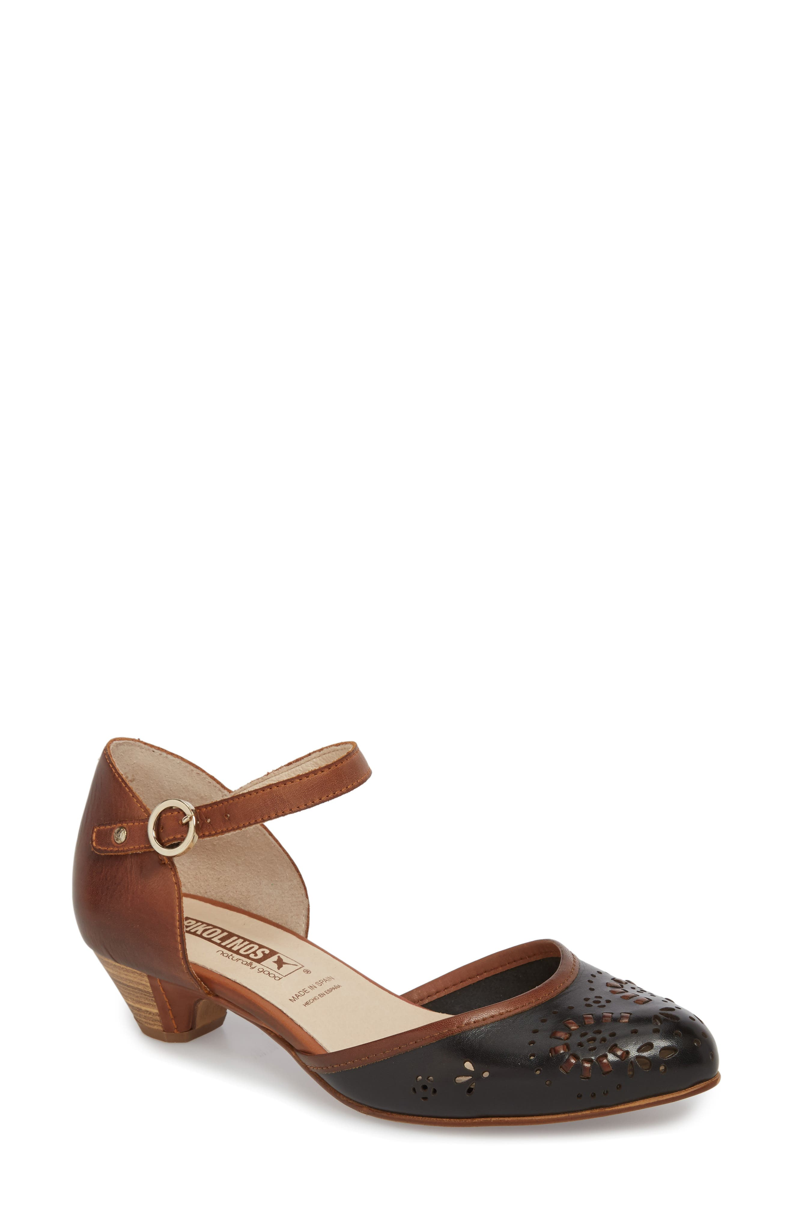 Elba Mary Jane Pump,                         Main,                         color, BLACK LEATHER