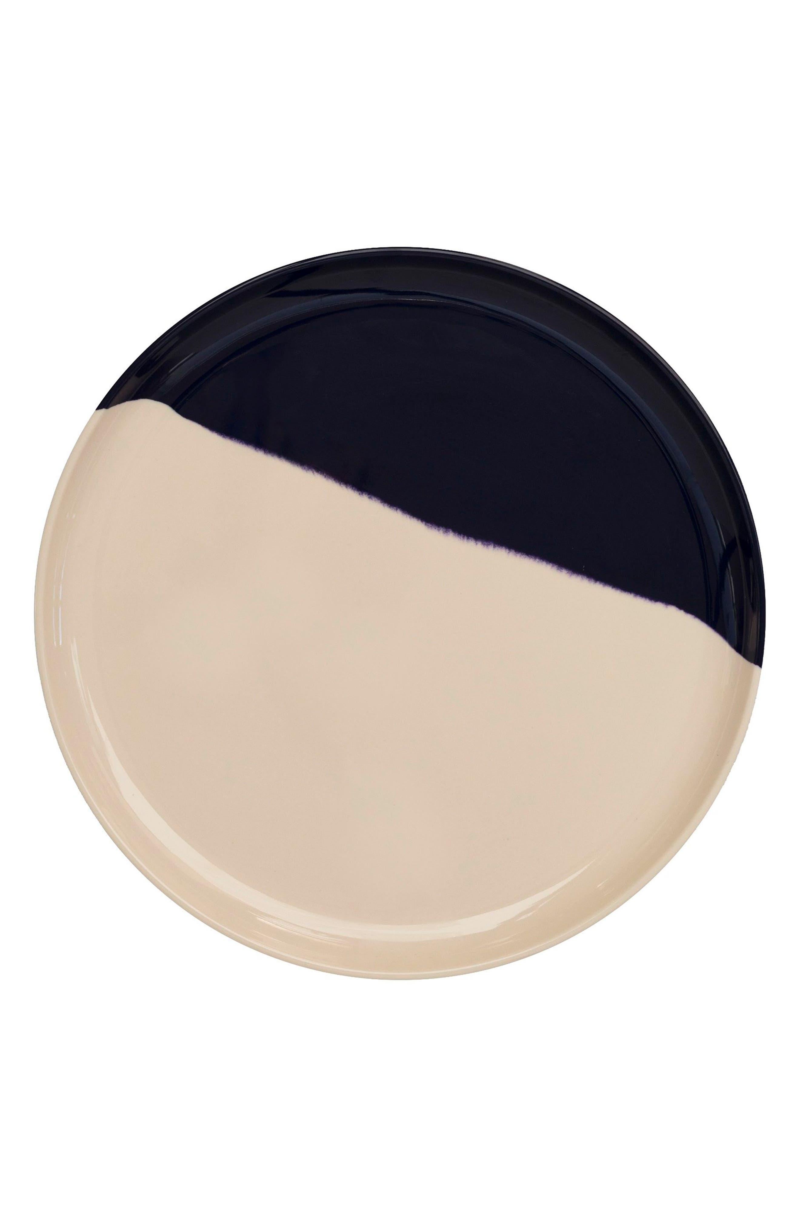 Set of 4 Melamine Side Plates,                         Main,                         color, IVORY / BLUE