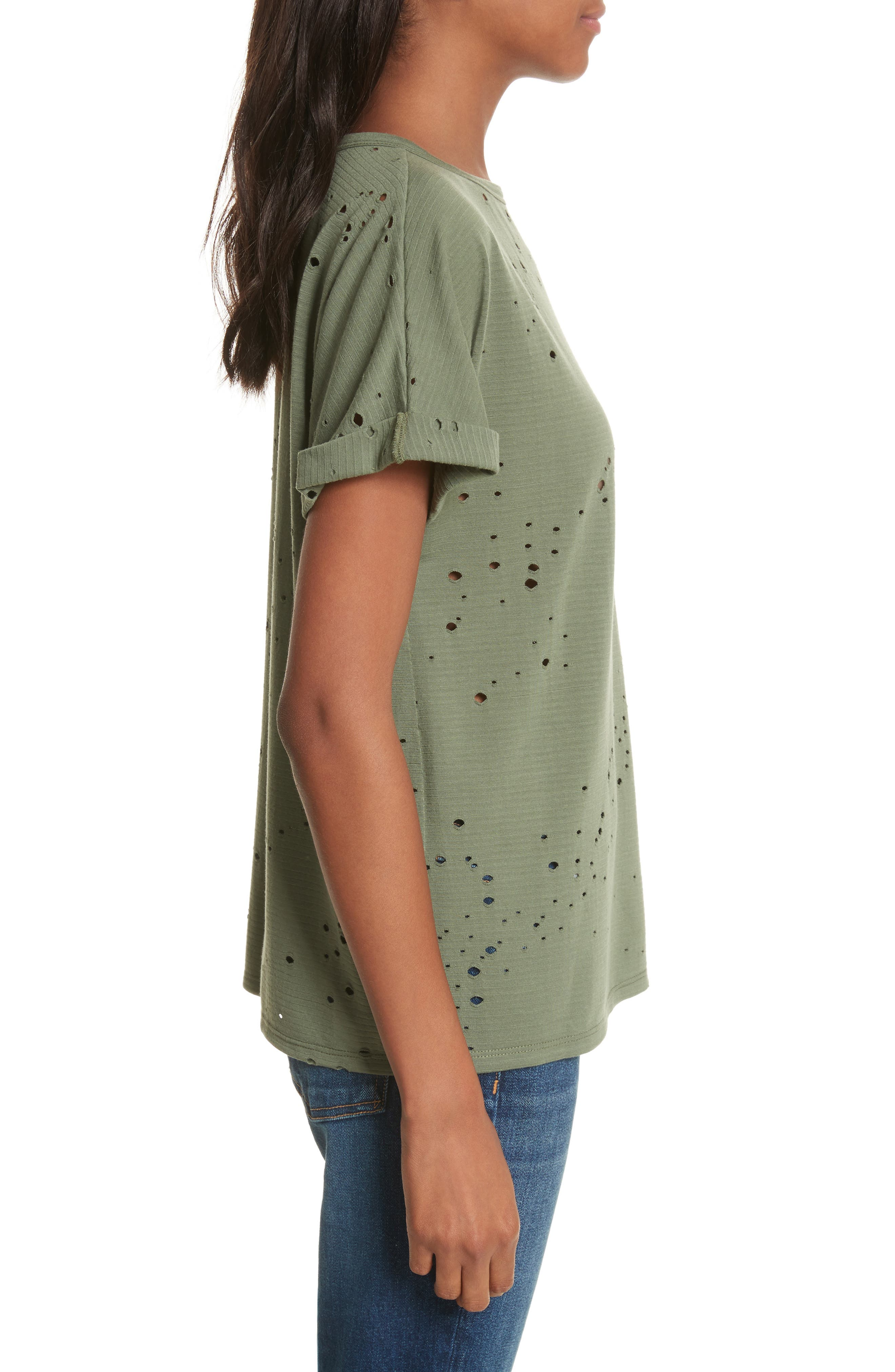 Waverly Perforated Tee,                             Alternate thumbnail 3, color,                             310