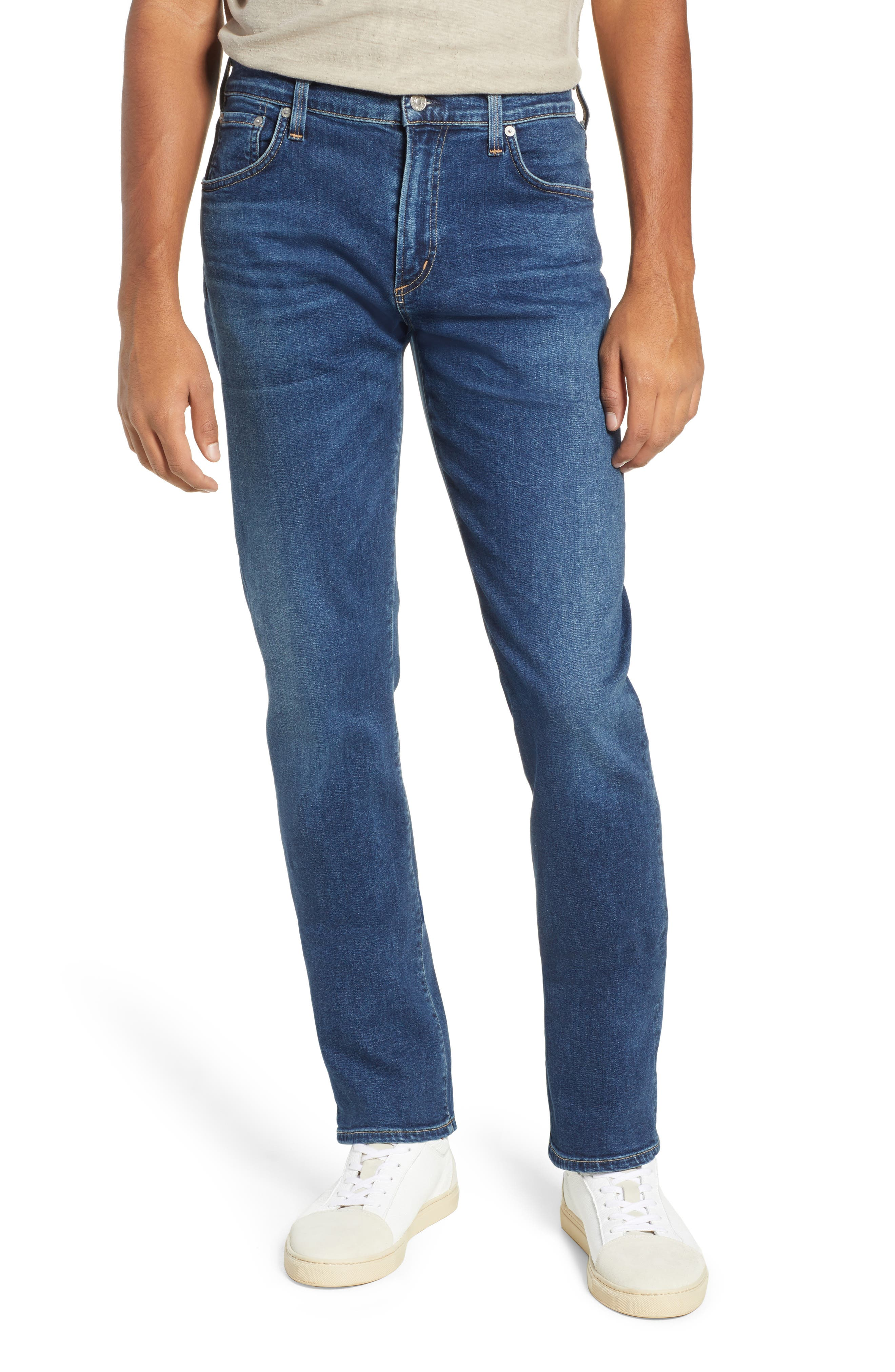 Gage Slim Straight Leg Jeans, Main, color, TERRAN