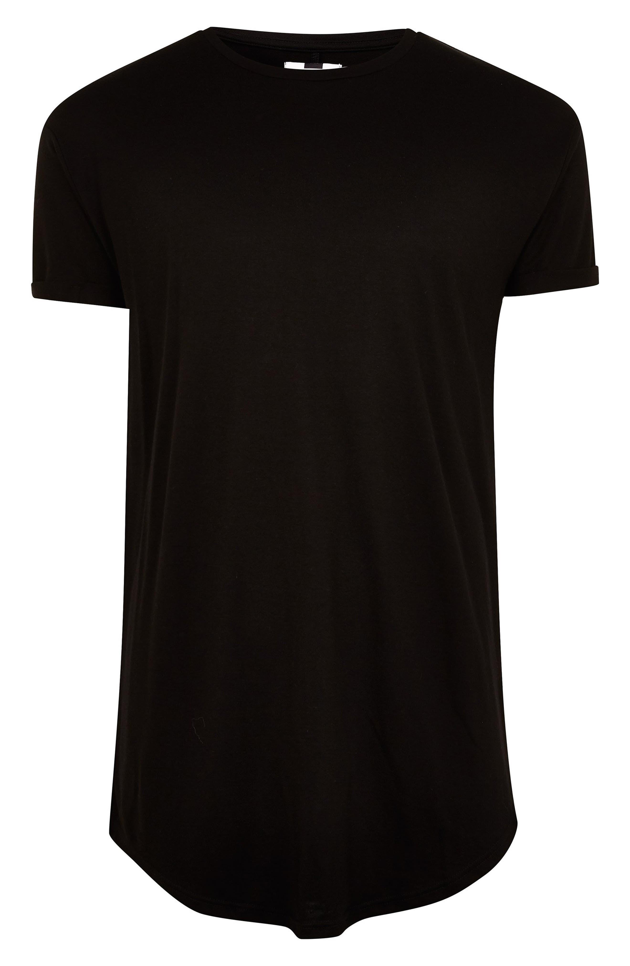 Scotty Longline T-Shirt,                             Alternate thumbnail 3, color,                             BLACK