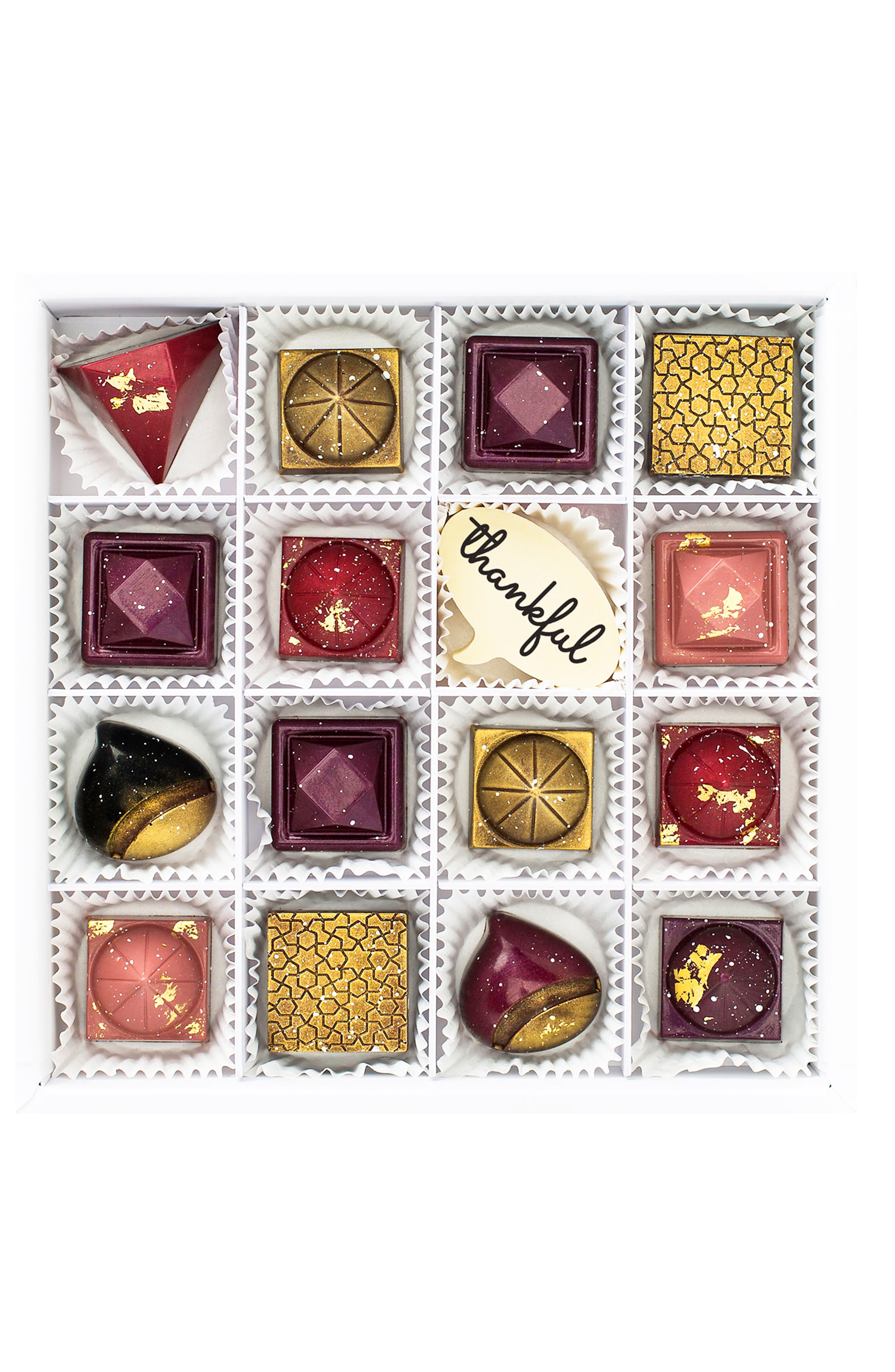 Thankful 16-Piece Chocolate Set,                             Main thumbnail 1, color,                             WHITE