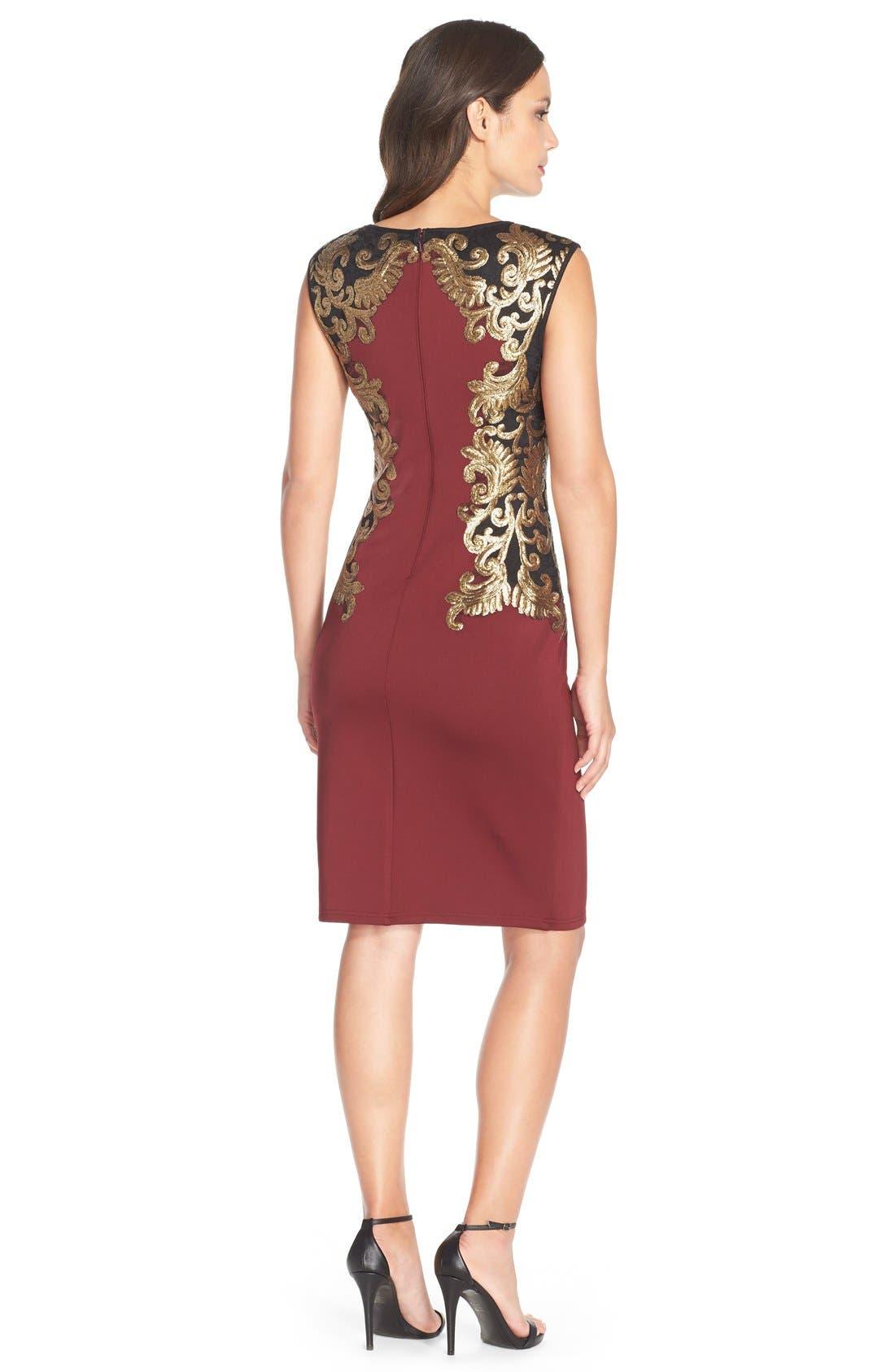 Sequin Neoprene Dress,                             Alternate thumbnail 2, color,                             205