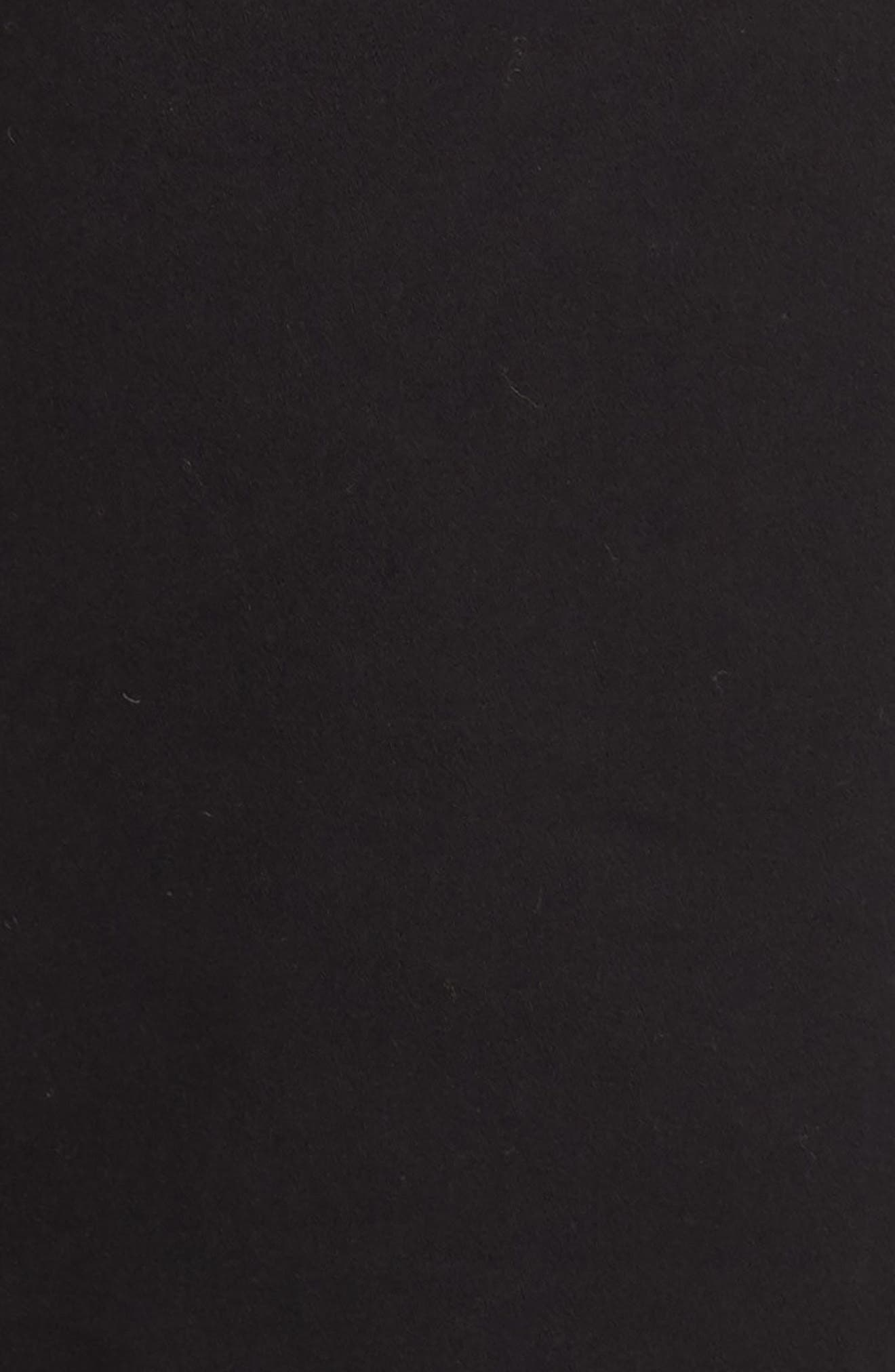 Stretch Cotton Five Pocket Trousers,                             Alternate thumbnail 5, color,                             BLACK