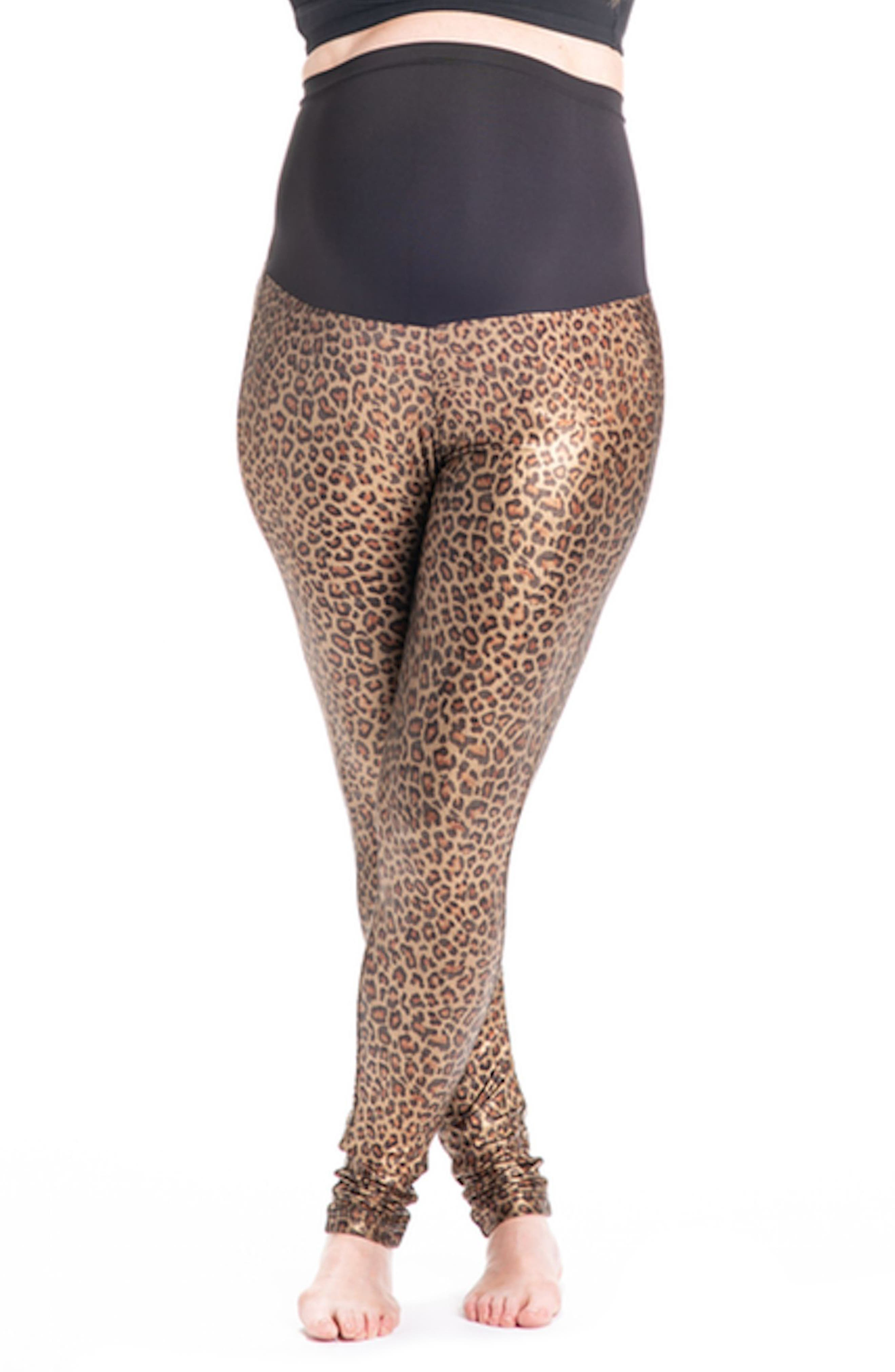PREGGO LEGGINGS Panthera Bae Maternity Leggings, Main, color, GOLD