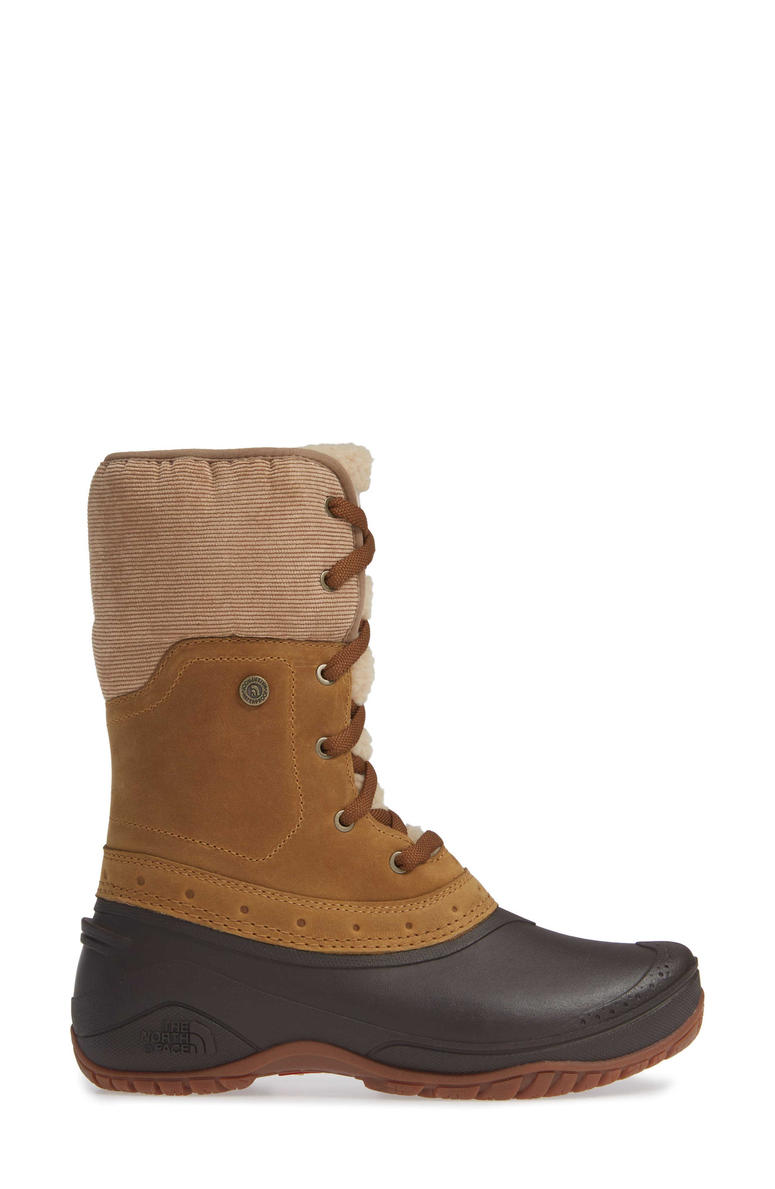Shellista Roll Cuff Waterproof Insulated Winter Boot,                             Alternate thumbnail 3, color,                             GOLDEN BROWN/ COFFEE BROWN
