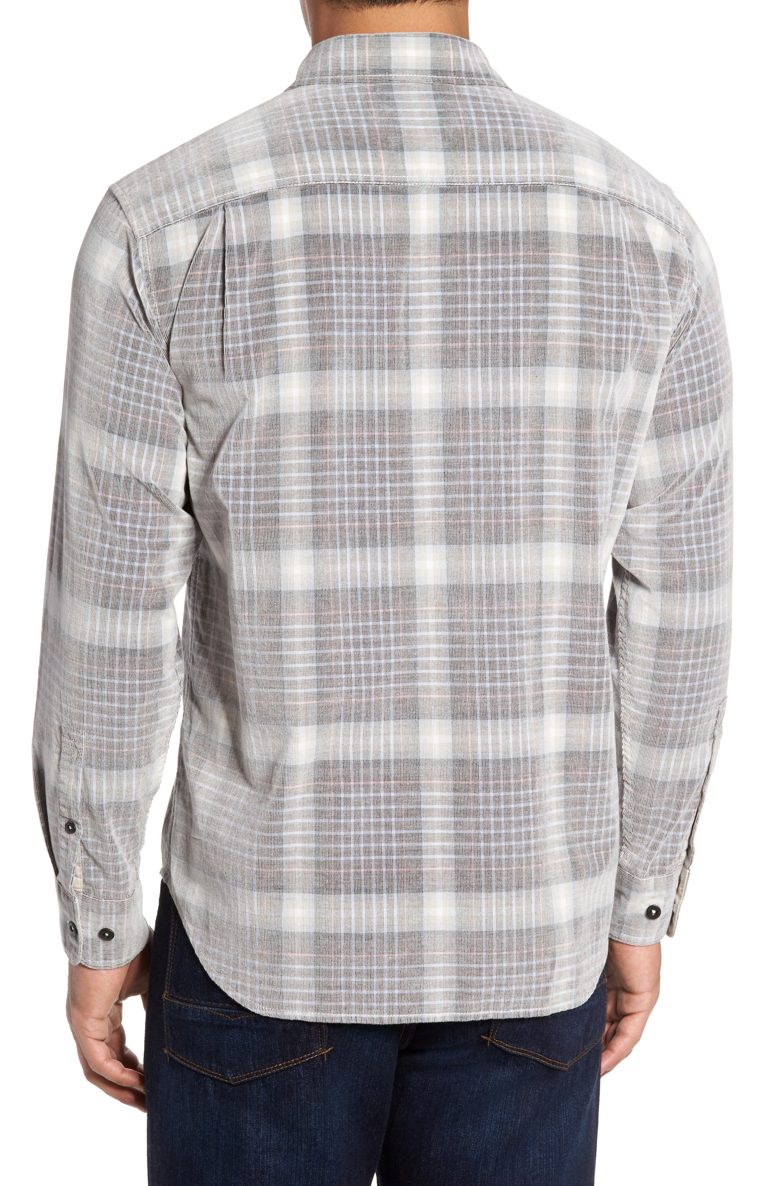 Standard Fit Plaid Sport Shirt,                             Alternate thumbnail 2, color,                             200