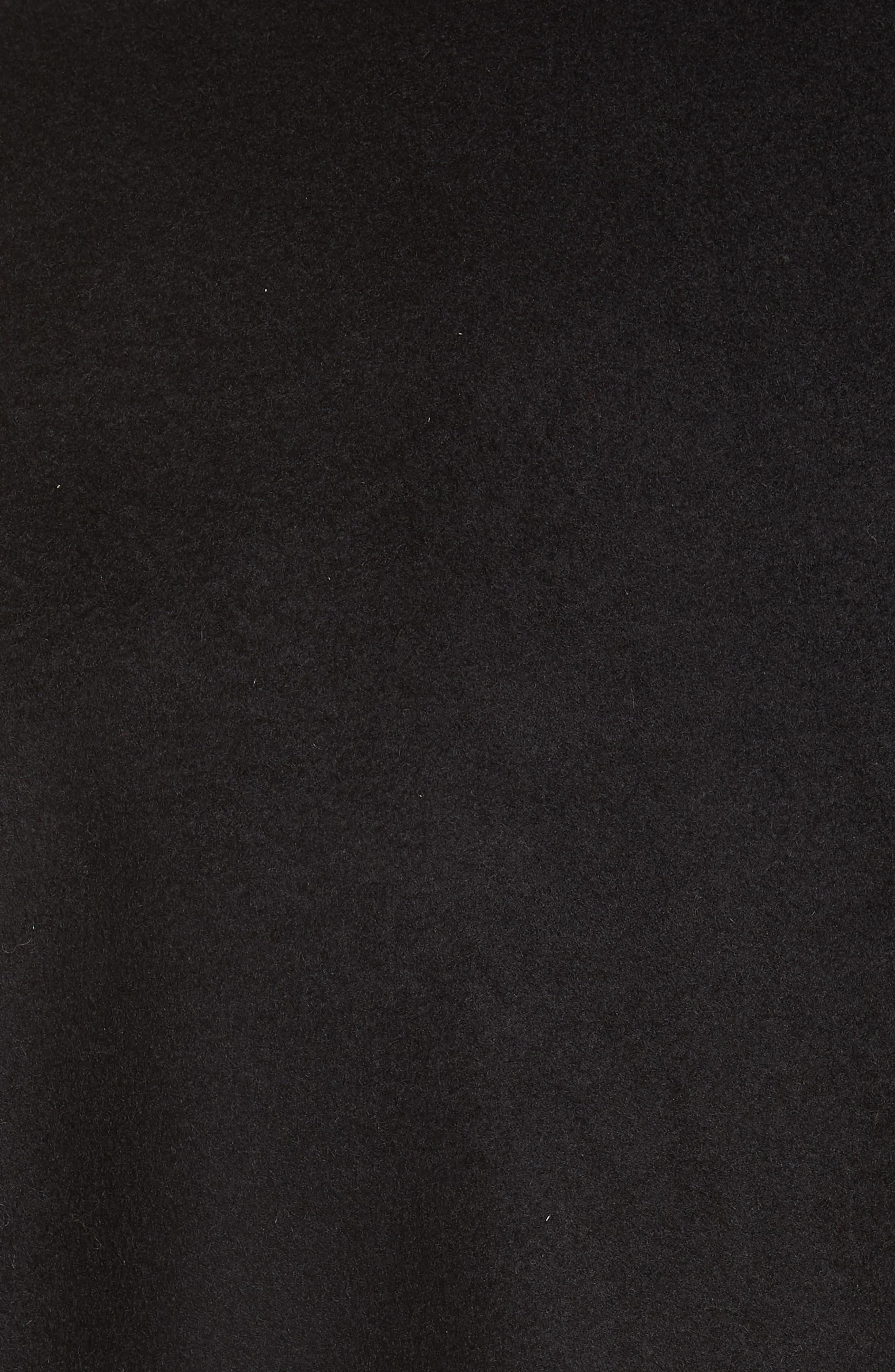 Wool & Cashmere Coat,                             Alternate thumbnail 6, color,                             BLACK