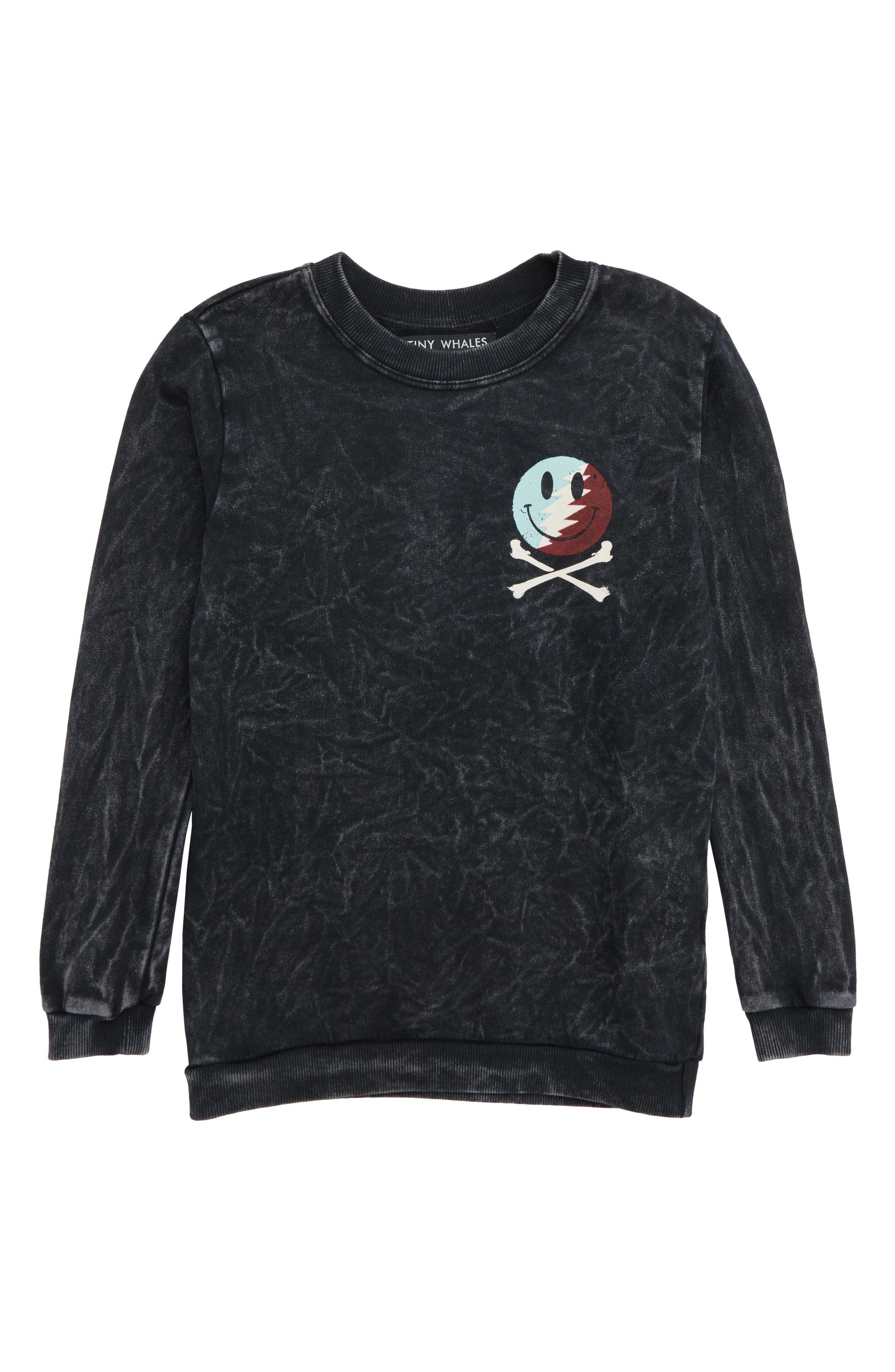 Rad to the Bone Sweatshirt,                             Main thumbnail 1, color,                             MINERAL BLACK