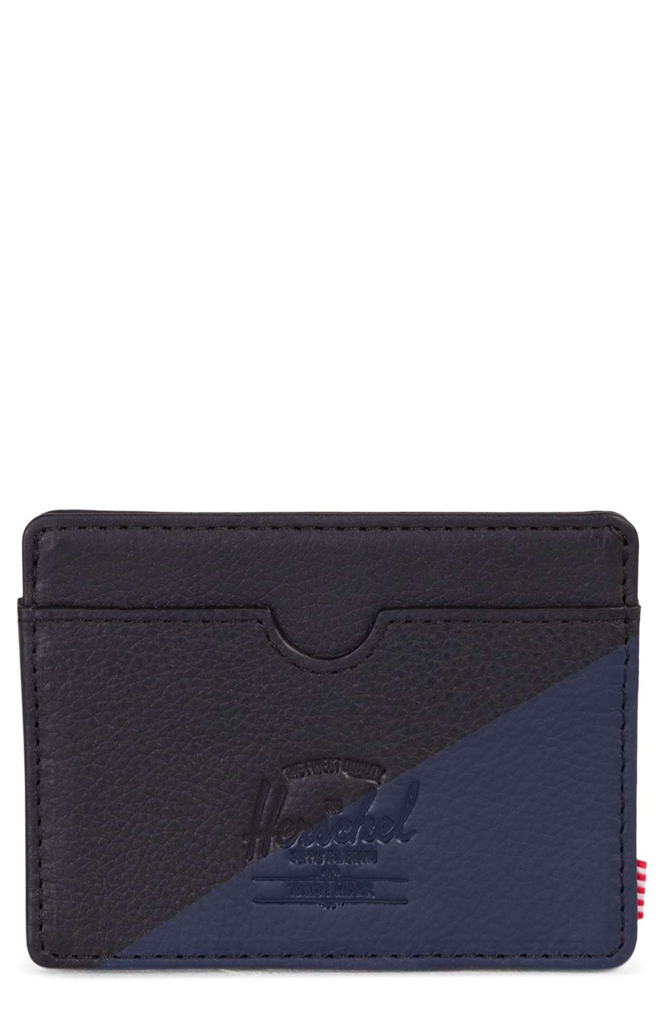 Charlie Leather Card Case,                             Main thumbnail 1, color,