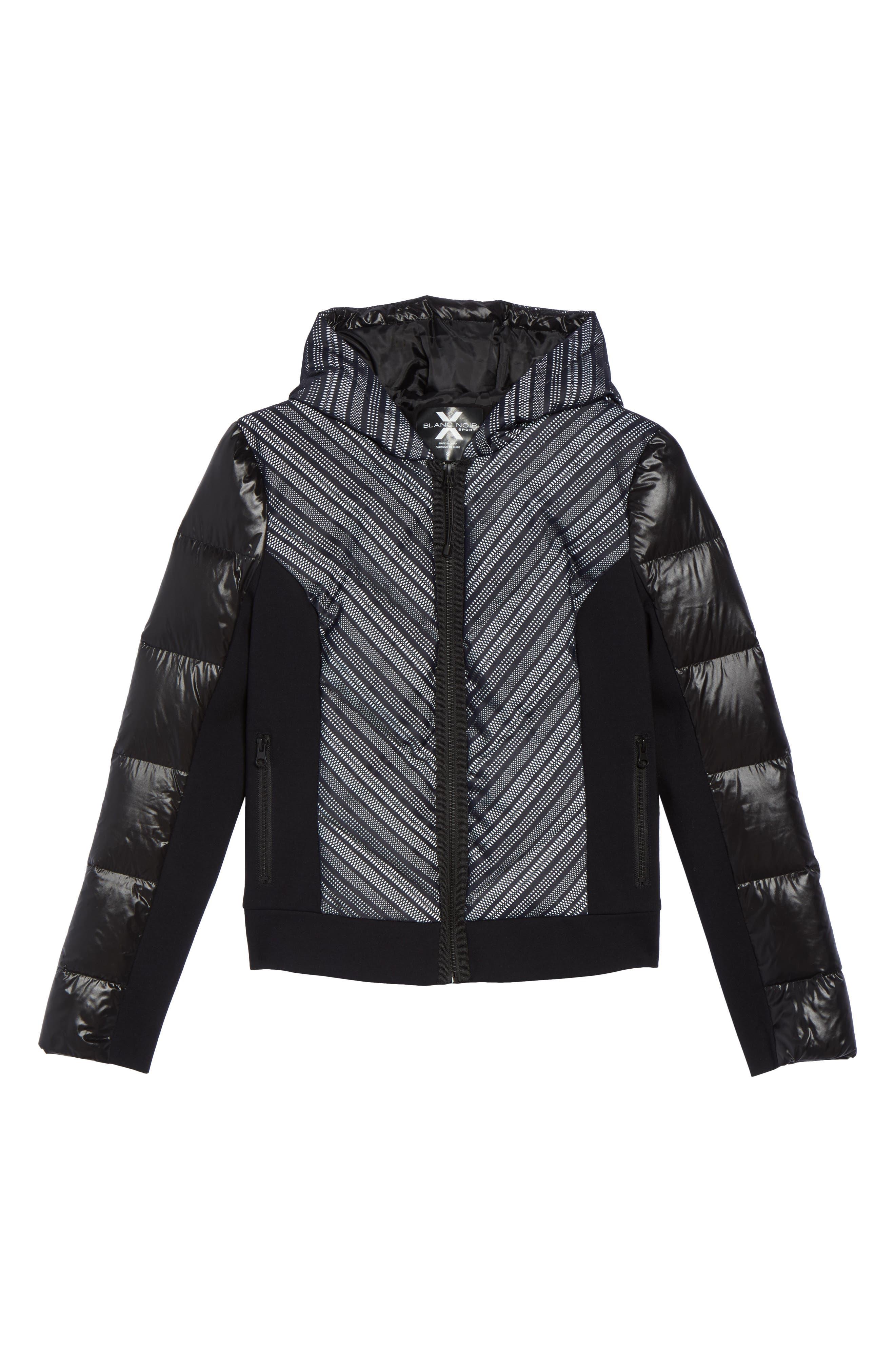 Chevron Reflective Puffer Jacket,                             Alternate thumbnail 5, color,                             001