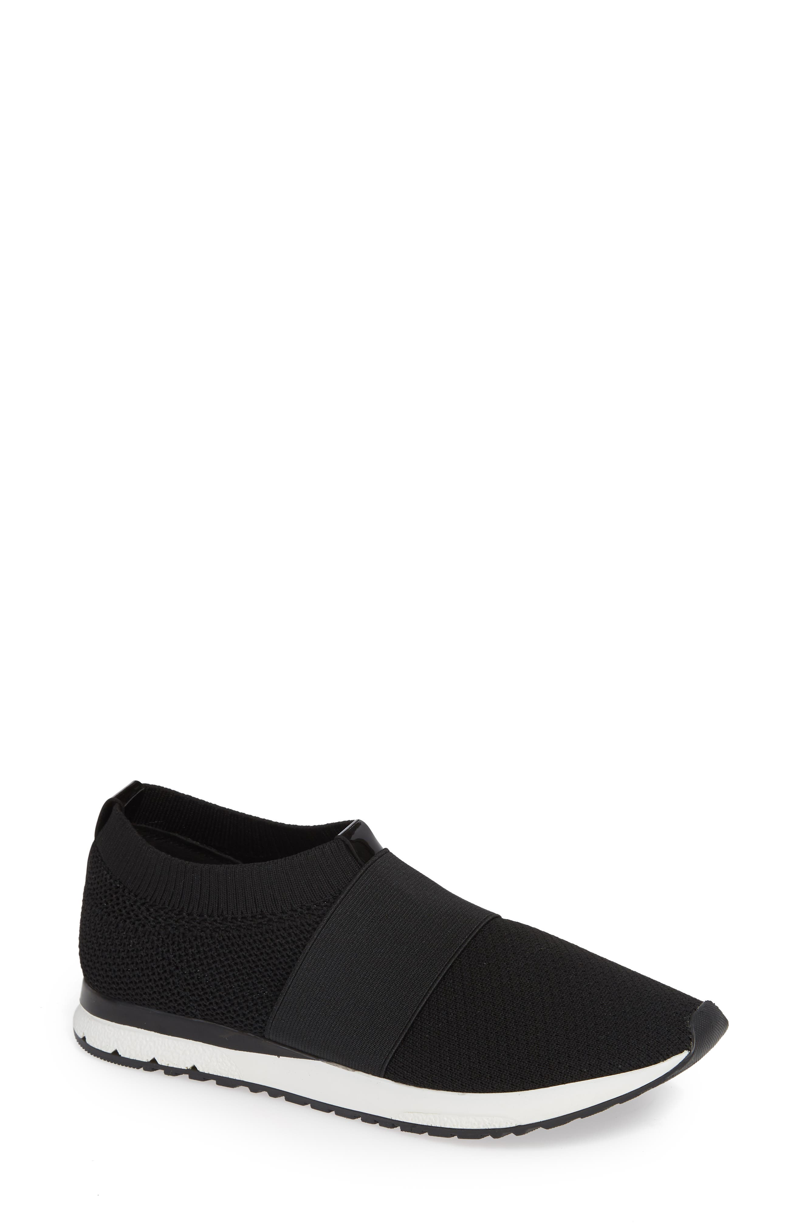 Brooke Slip-On Sneaker,                         Main,                         color, BLACK KNIT FABRIC