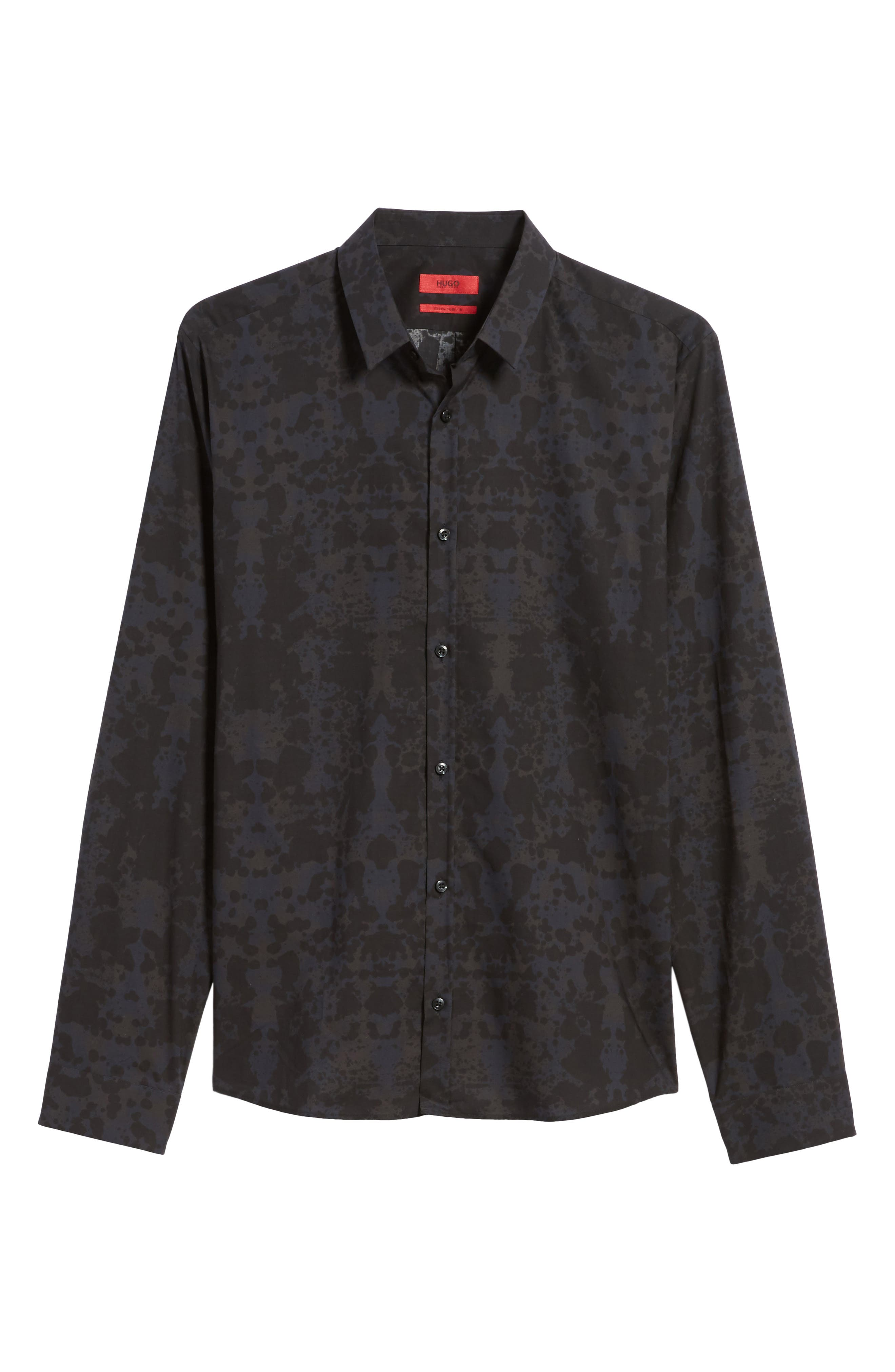HUGO Ero Slim Fit Print Sport Shirt,                             Alternate thumbnail 6, color,