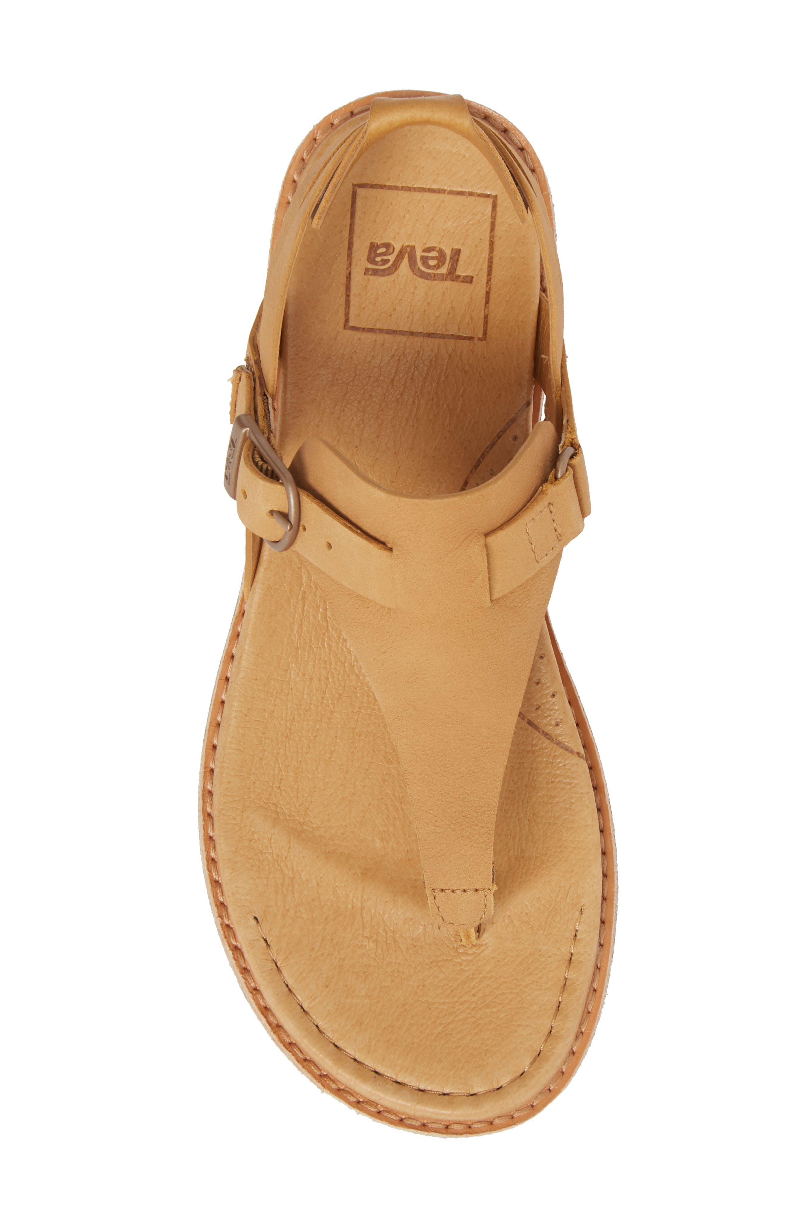 Encanta V-Strap Sandal,                             Alternate thumbnail 5, color,                             TAN