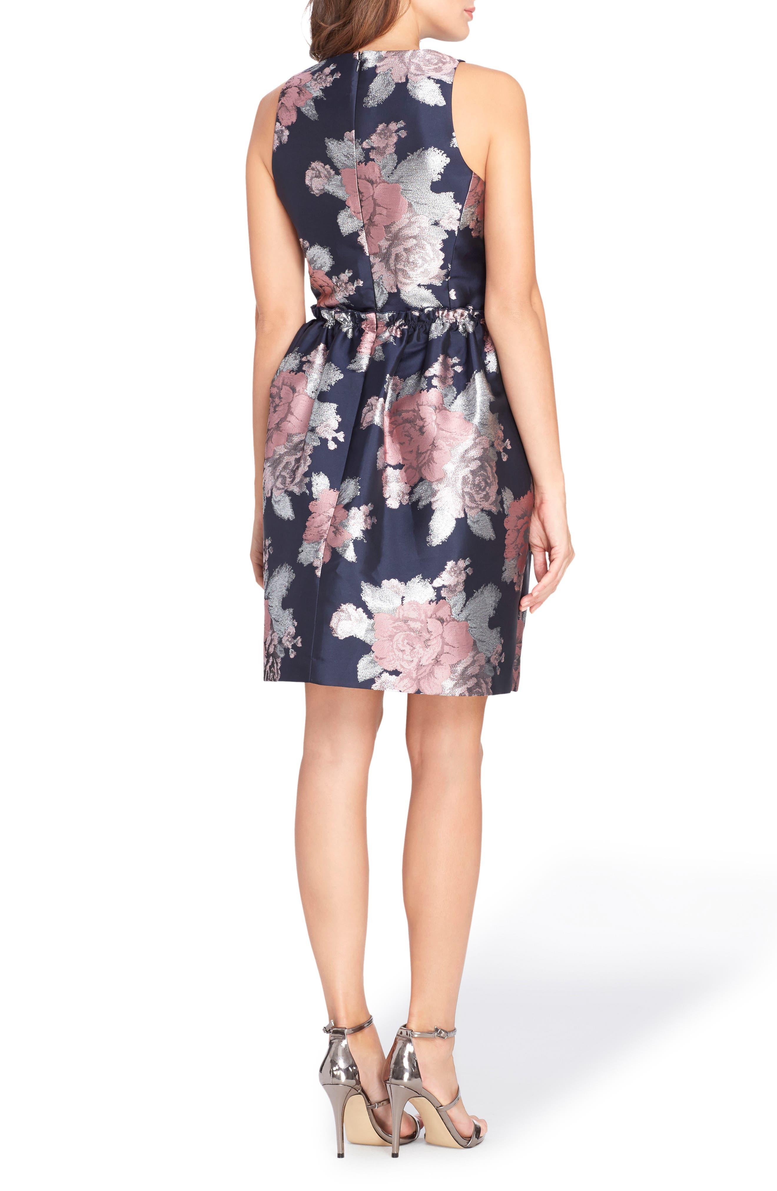 Jacquard Fit & Flare Dress,                             Alternate thumbnail 2, color,                             493