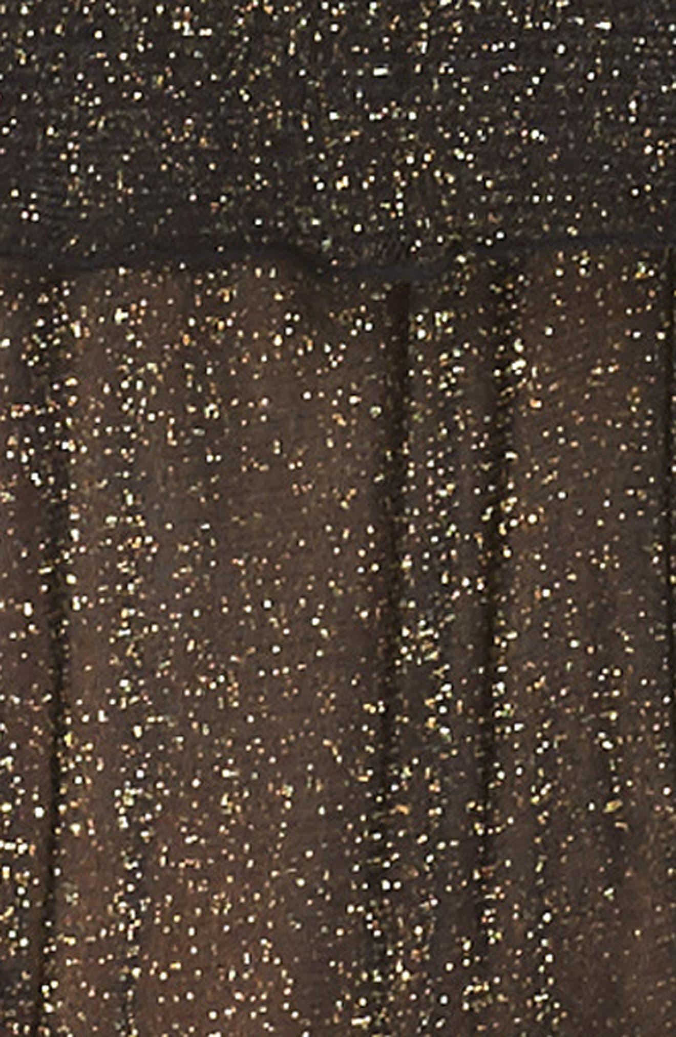 Shimmer Nights Mesh Top,                             Alternate thumbnail 4, color,                             001
