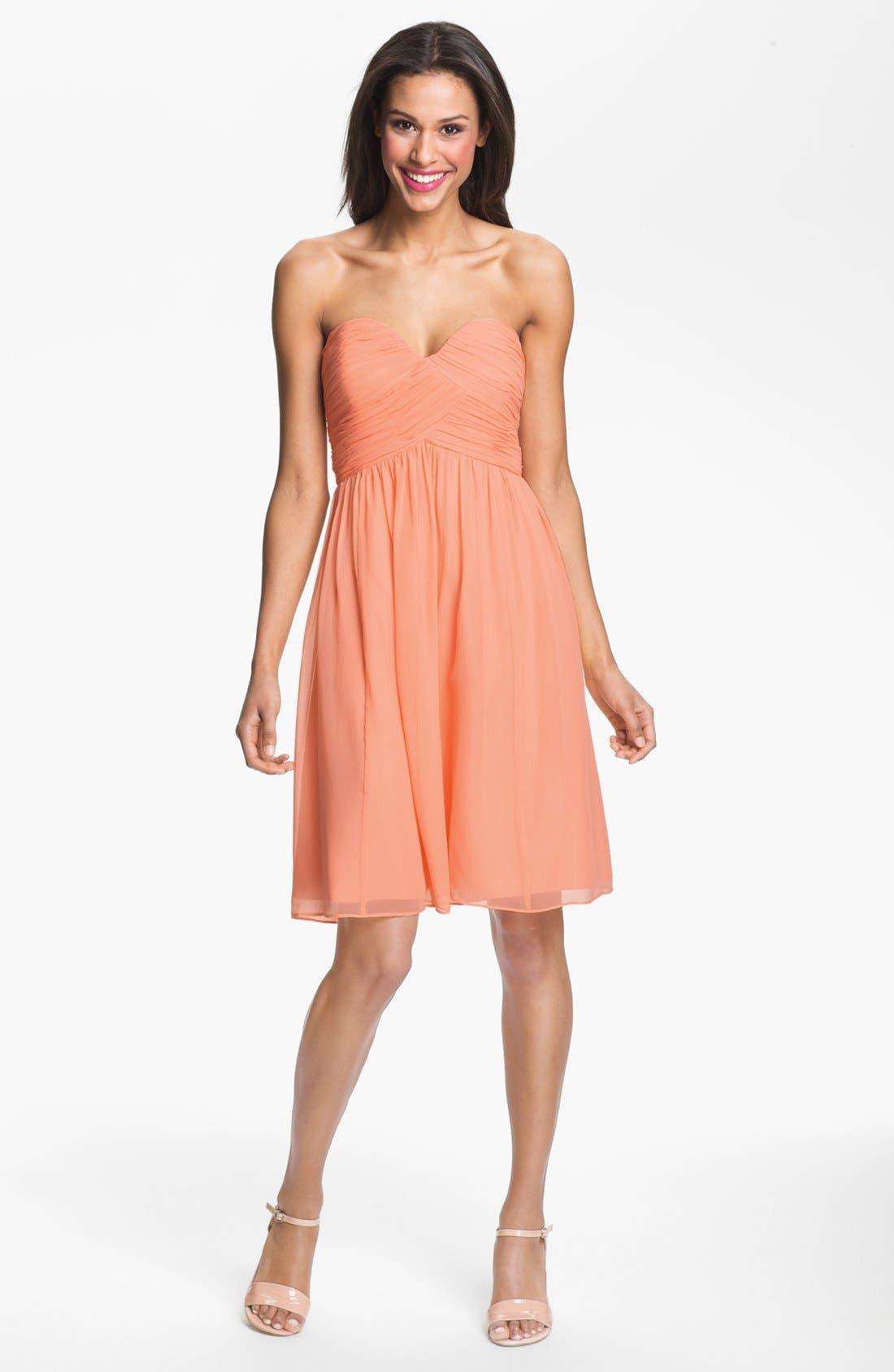 'Morgan' Strapless Silk Chiffon Dress,                             Alternate thumbnail 118, color,