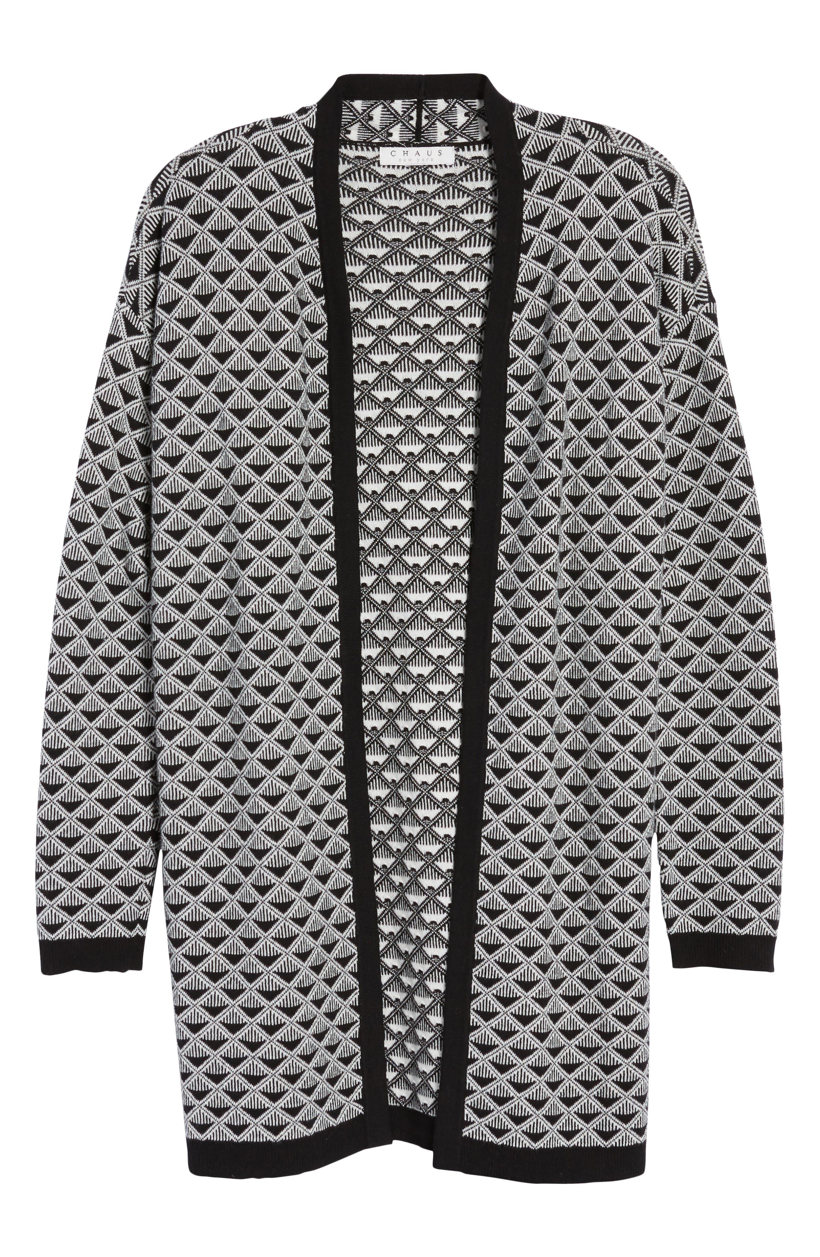Geometric Jacquard Sweater,                             Alternate thumbnail 6, color,                             010