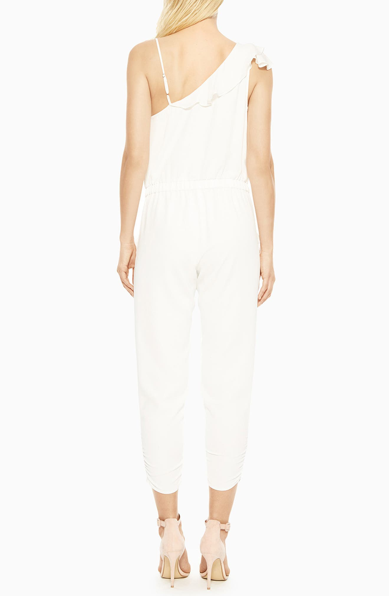 Addison Ruffle Jumpsuit,                             Alternate thumbnail 2, color,                             PEARL