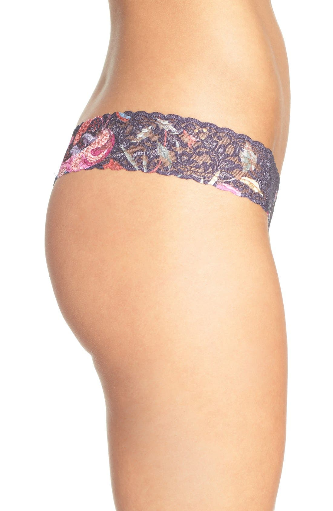 Print Low Rise Thong,                             Alternate thumbnail 3, color,                             001