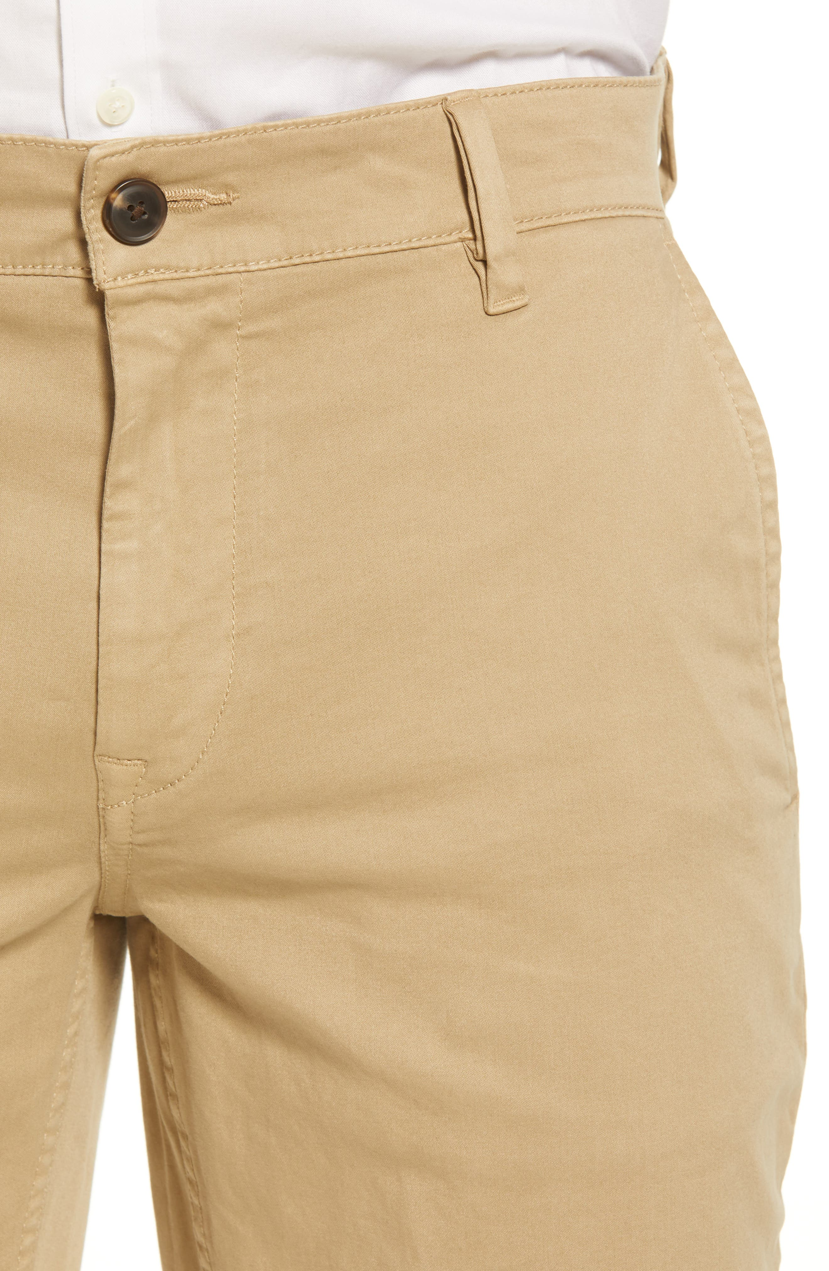 Stretch Chino Pants,                             Alternate thumbnail 4, color,                             BROWN