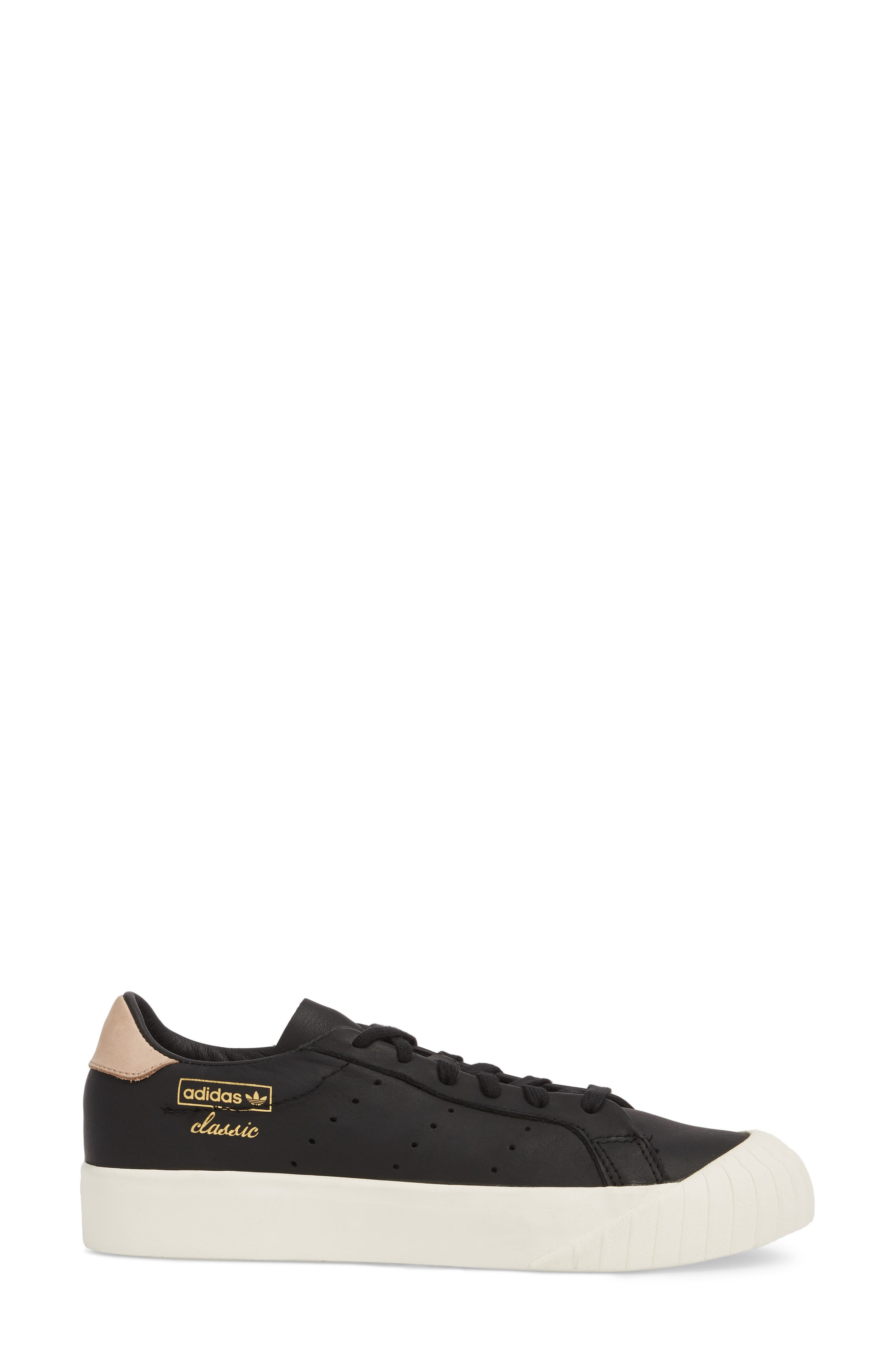 Everyn Perforated Low Top Sneaker,                             Alternate thumbnail 3, color,                             001