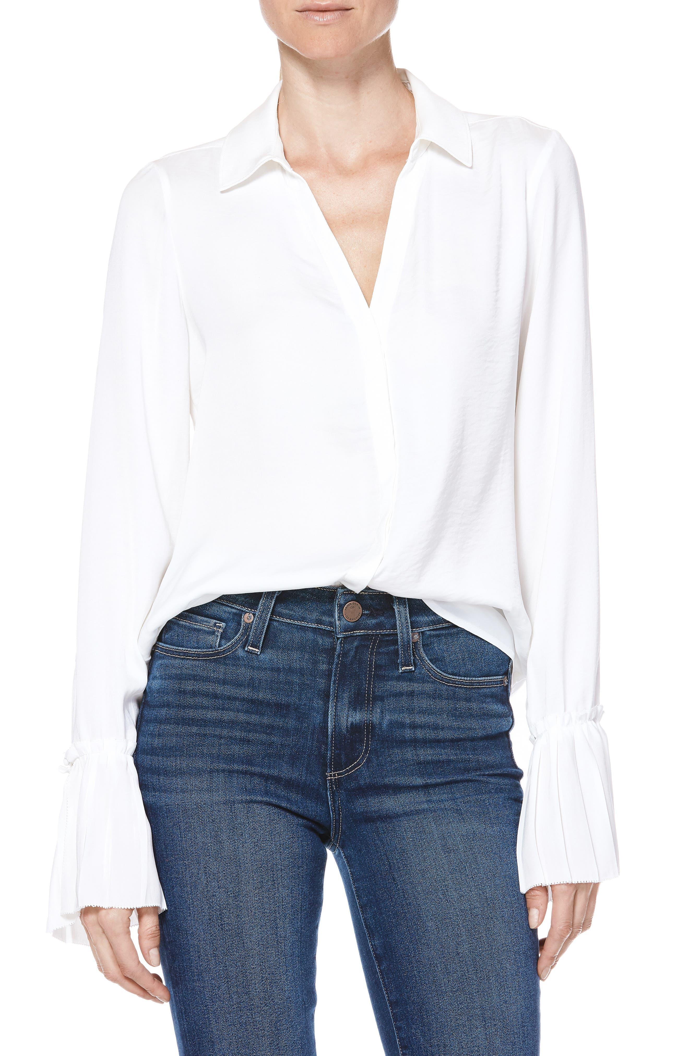 Abriana Shirt,                         Main,                         color, WHITE