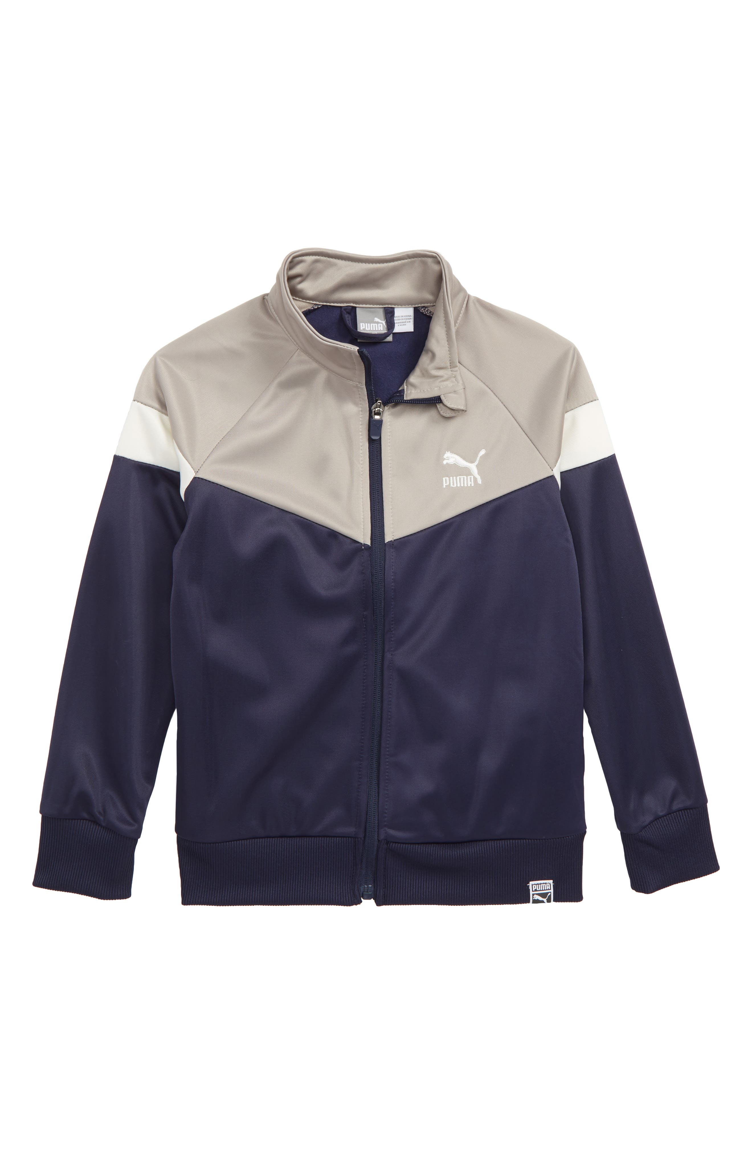 Colorblock Track Jacket,                         Main,                         color, PEACOAT