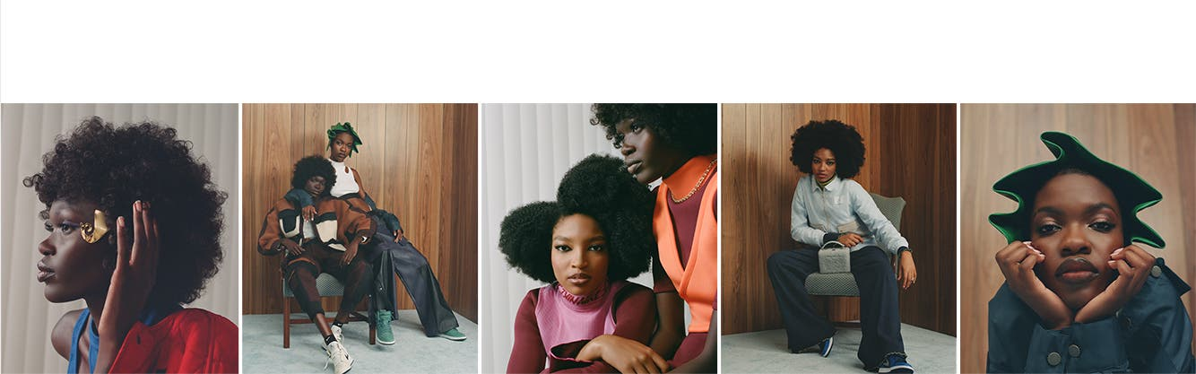 Models wearing outfits curated by Black Owned Everything.