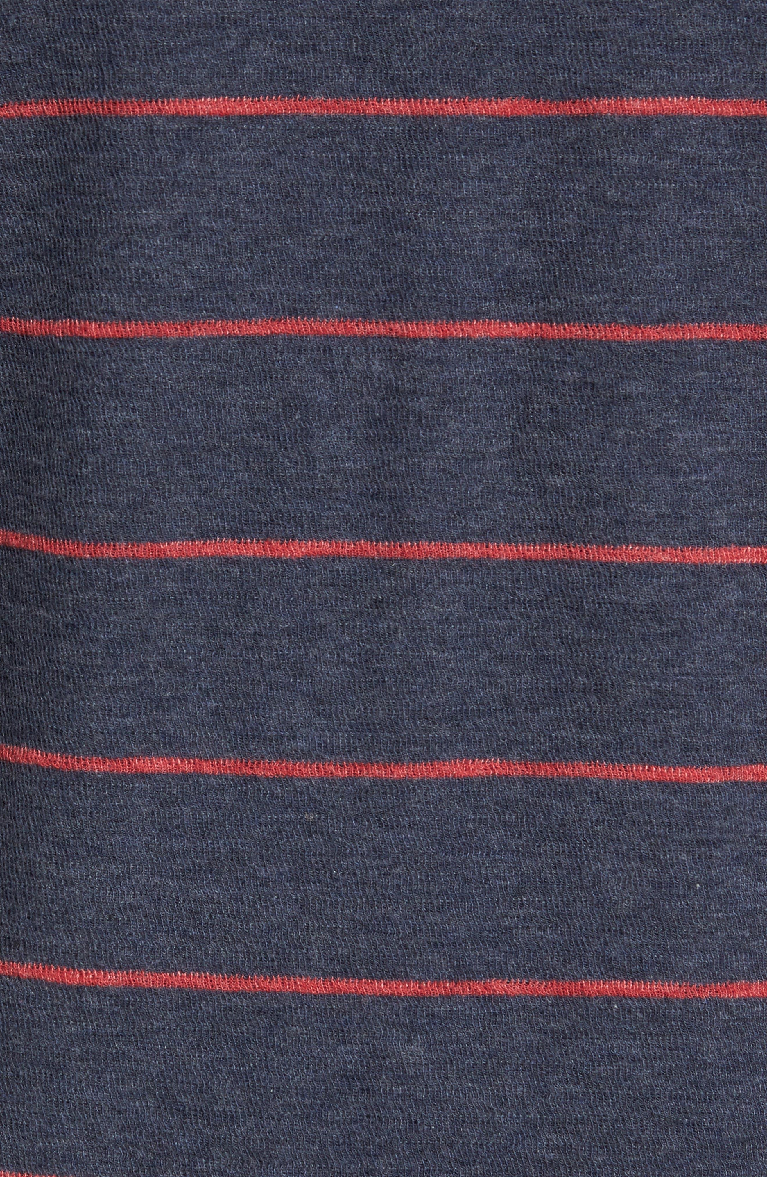 Baird Stripe Crewneck Sweatshirt,                             Alternate thumbnail 5, color,                             412