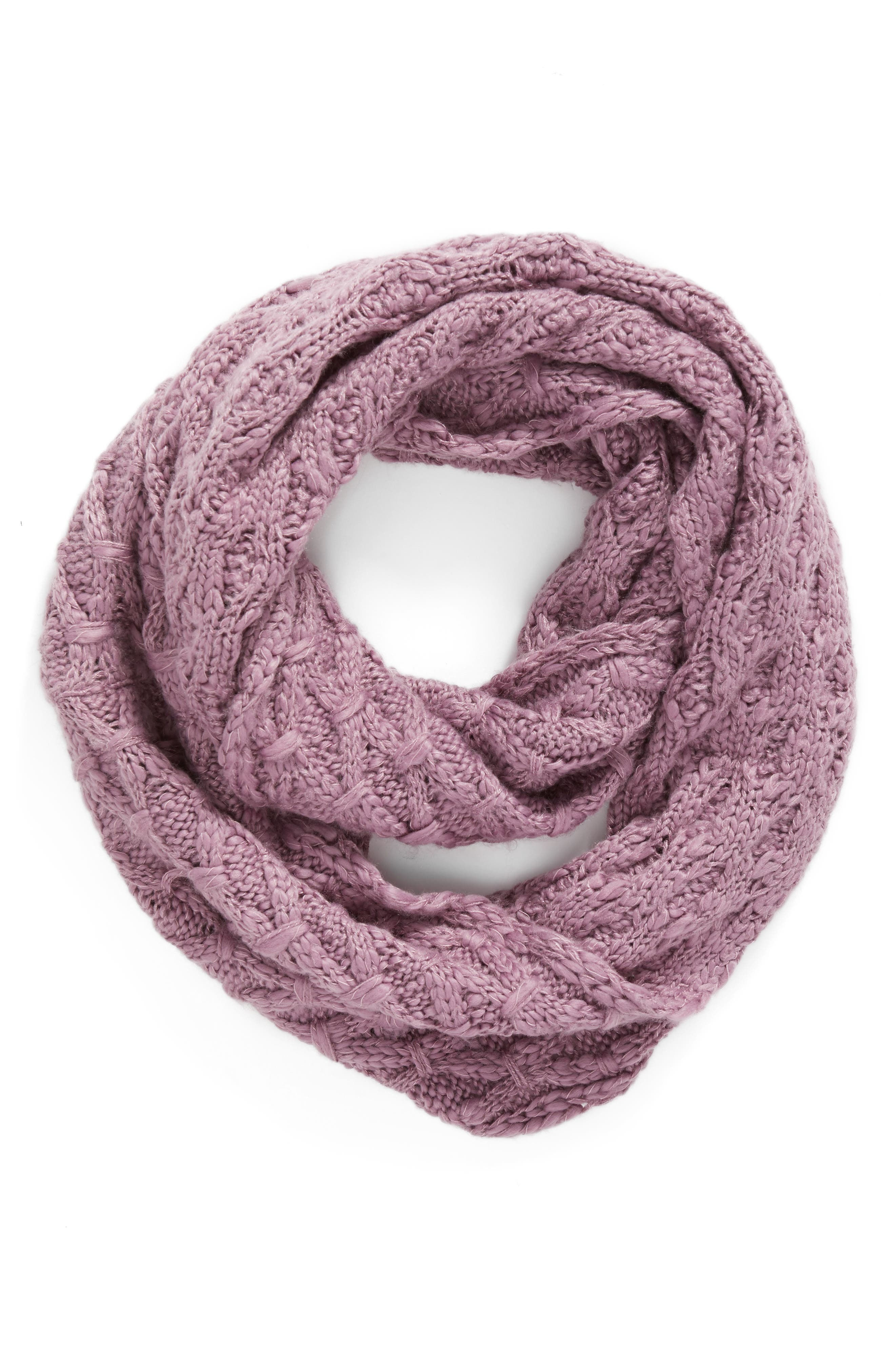 Solid Chunky Knit Infinity Scarf,                             Alternate thumbnail 9, color,
