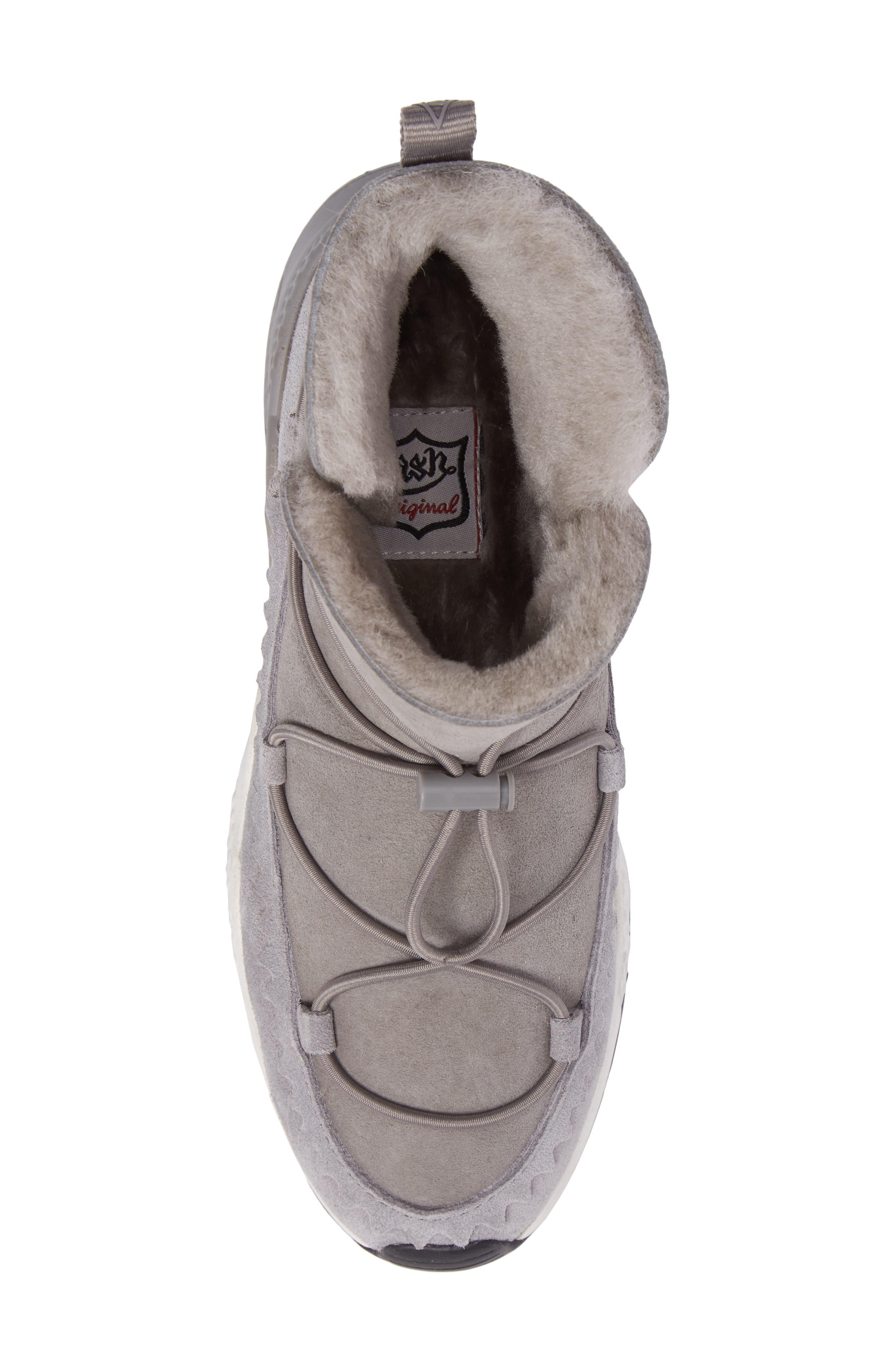Mitsouko Genuine Shearling Sneaker,                             Alternate thumbnail 5, color,