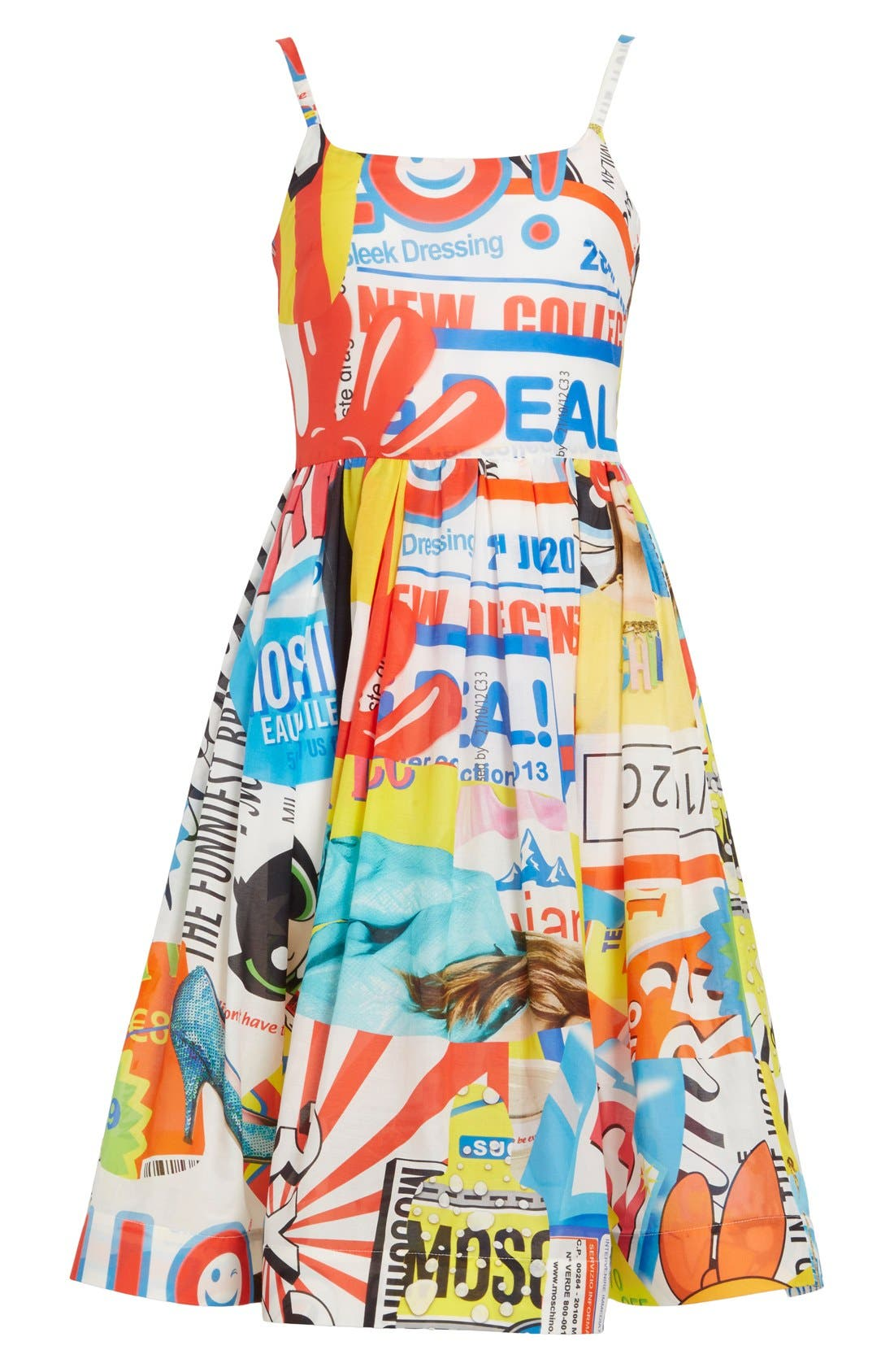'The Powerpuff Girls<sup>®</sup>' Fit & Flare Dress,                             Alternate thumbnail 3, color,                             122