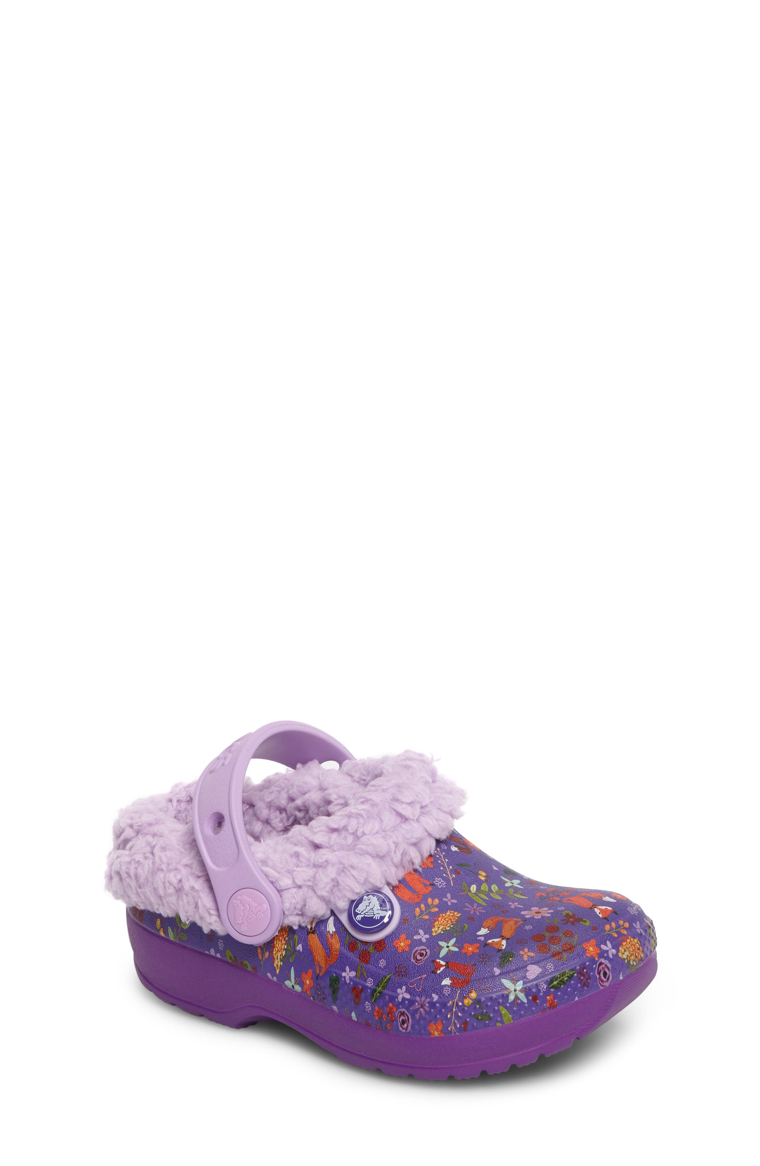 Classic Blitzen III Faux Fur Graphic Clog,                         Main,                         color, 538