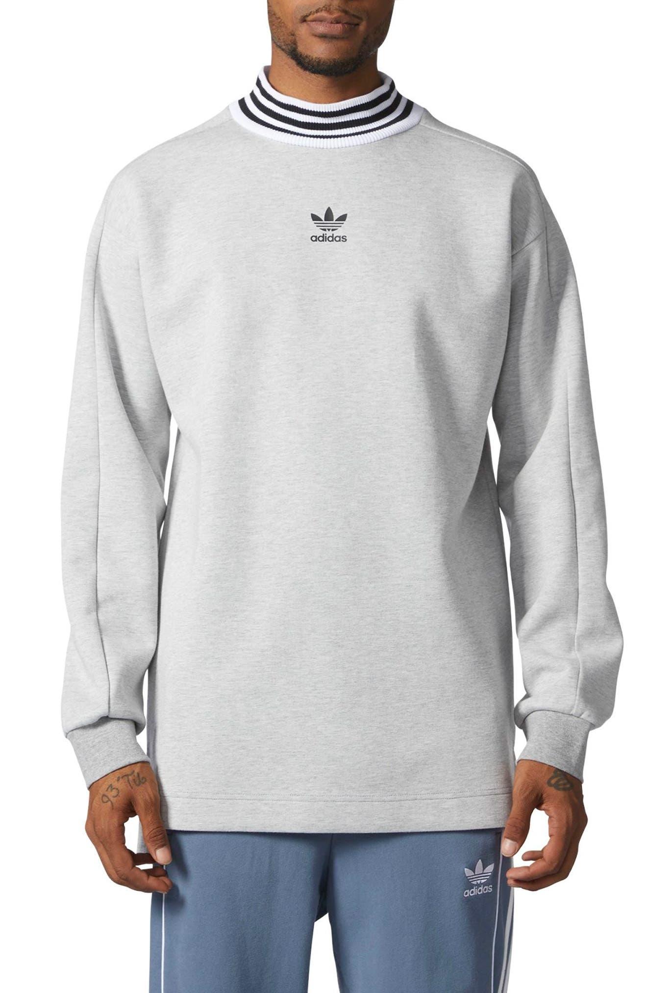 ADIDAS ORIGINALS,                             Mock Neck Sweatshirt,                             Main thumbnail 1, color,                             035