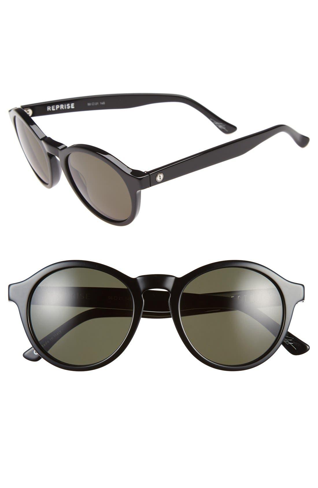 'Reprise' 50mm Round Sunglasses, Main, color, 001