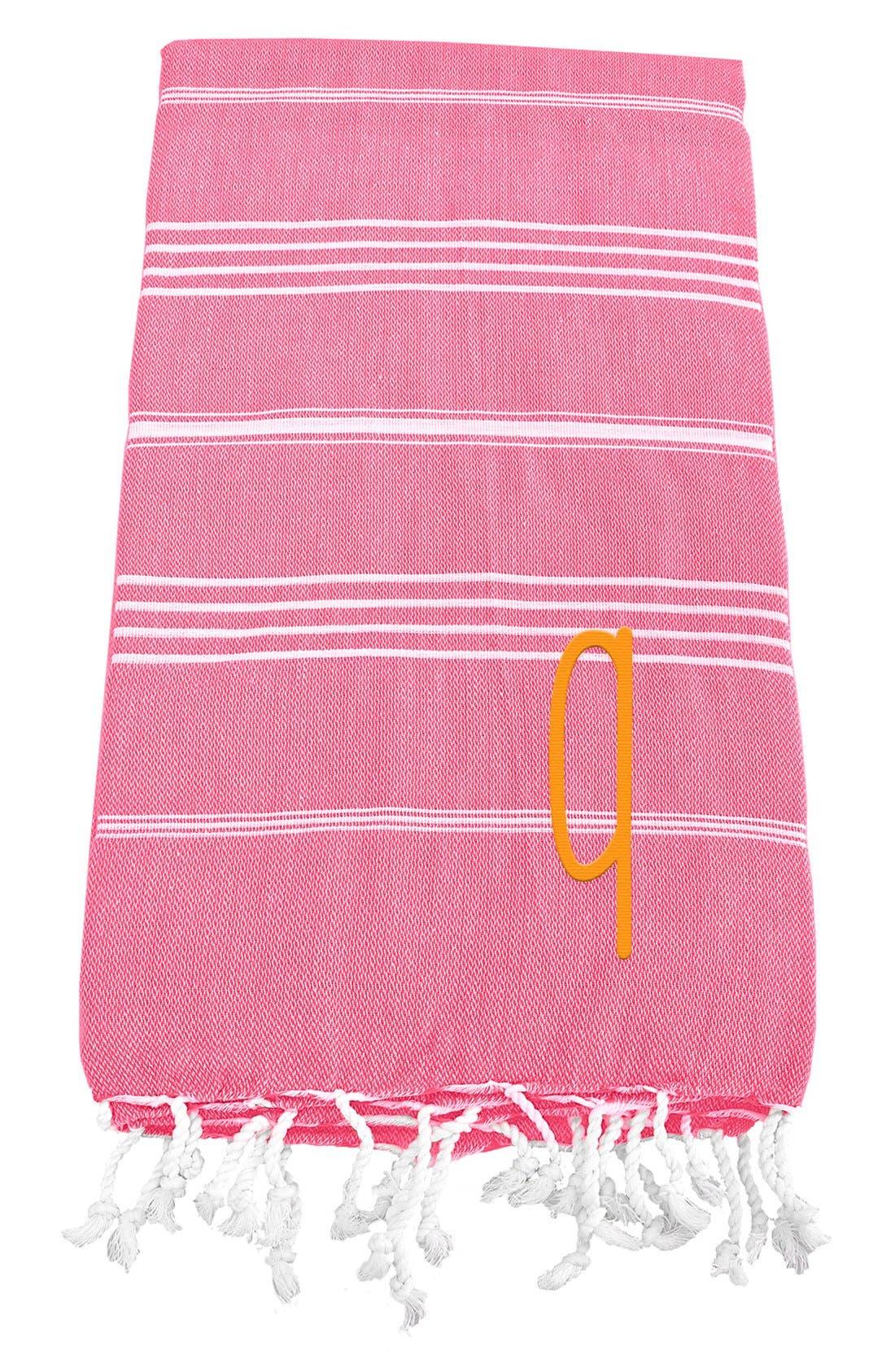 Monogram Turkish Cotton Towel,                             Main thumbnail 153, color,