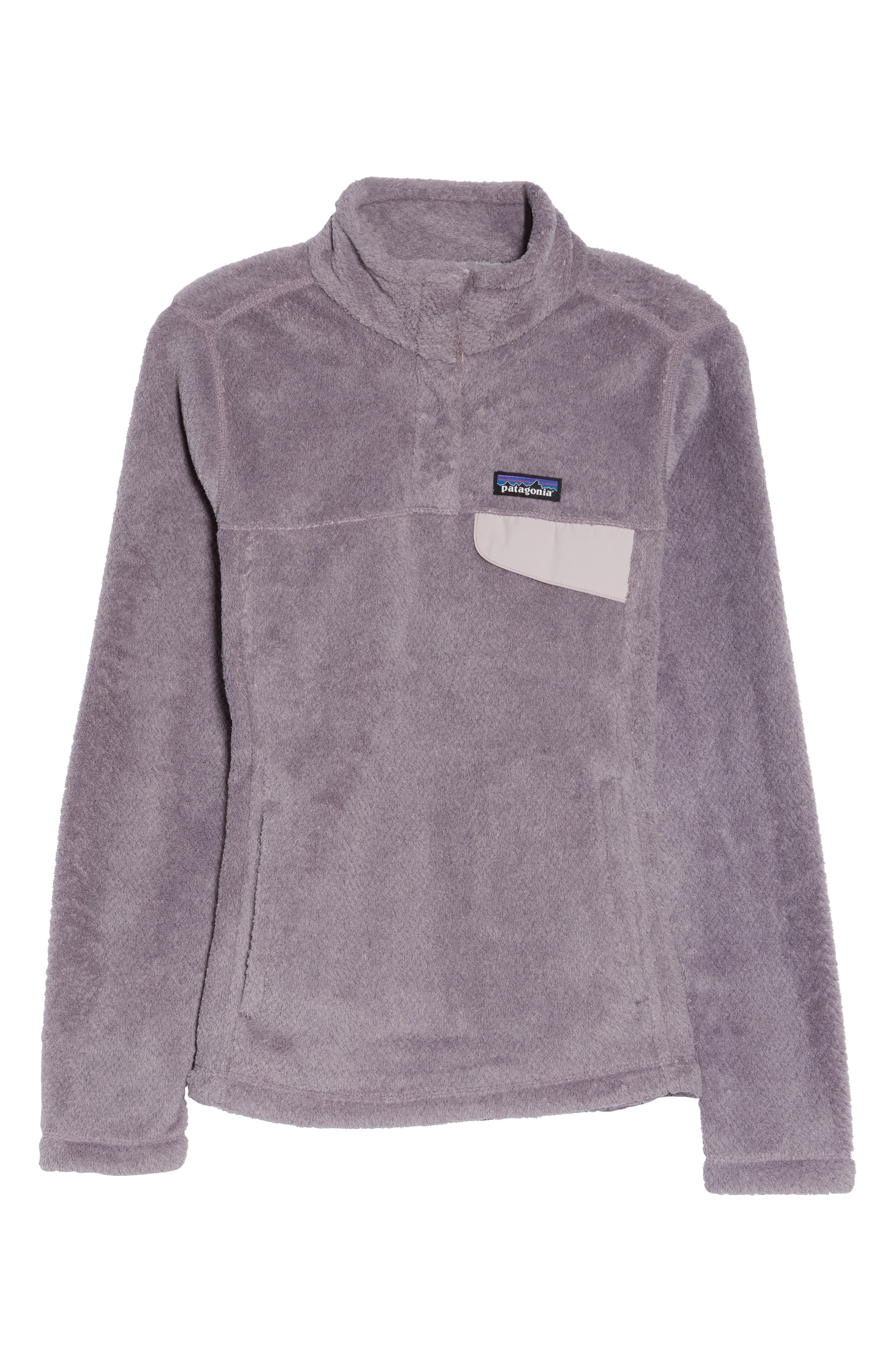 Re-Tool Snap-T<sup>®</sup> Fleece Pullover,                             Alternate thumbnail 7, color,                             SMOKEY VIOLET PURPLE X-DYE