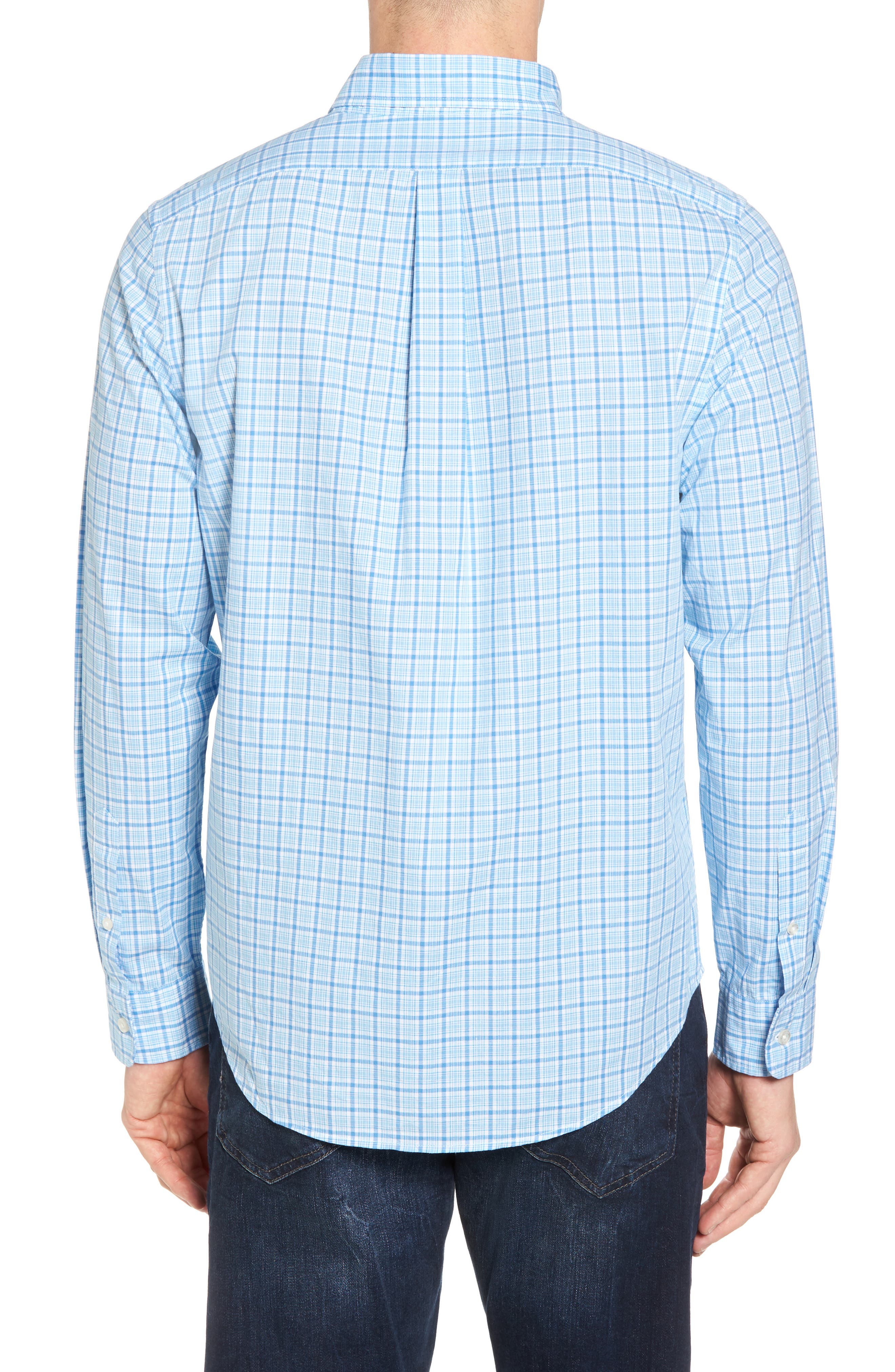Seawatch Slim Fit Plaid Sport Shirt,                             Alternate thumbnail 2, color,                             459