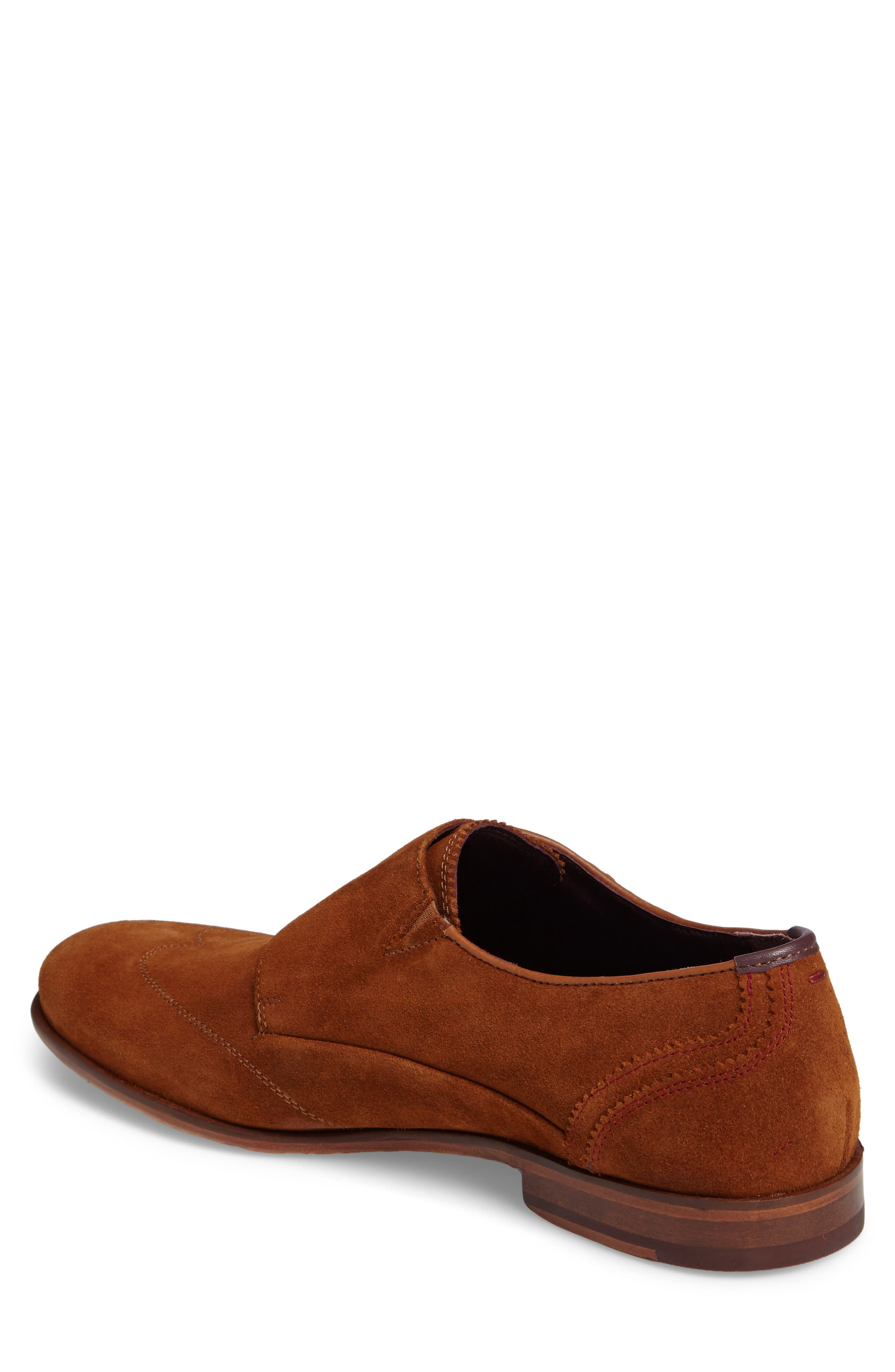 Rovere Wingtip Monk Shoe,                             Alternate thumbnail 2, color,                             TAN SUEDE