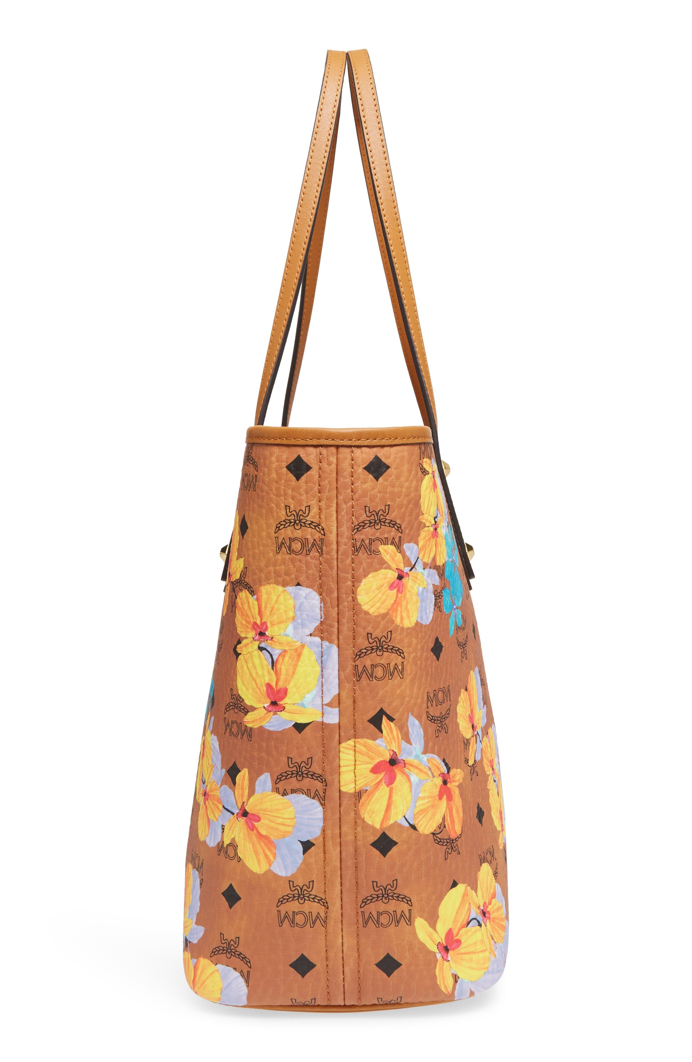 Essentials Floral Print Coated Canvas Shopper,                             Alternate thumbnail 12, color,