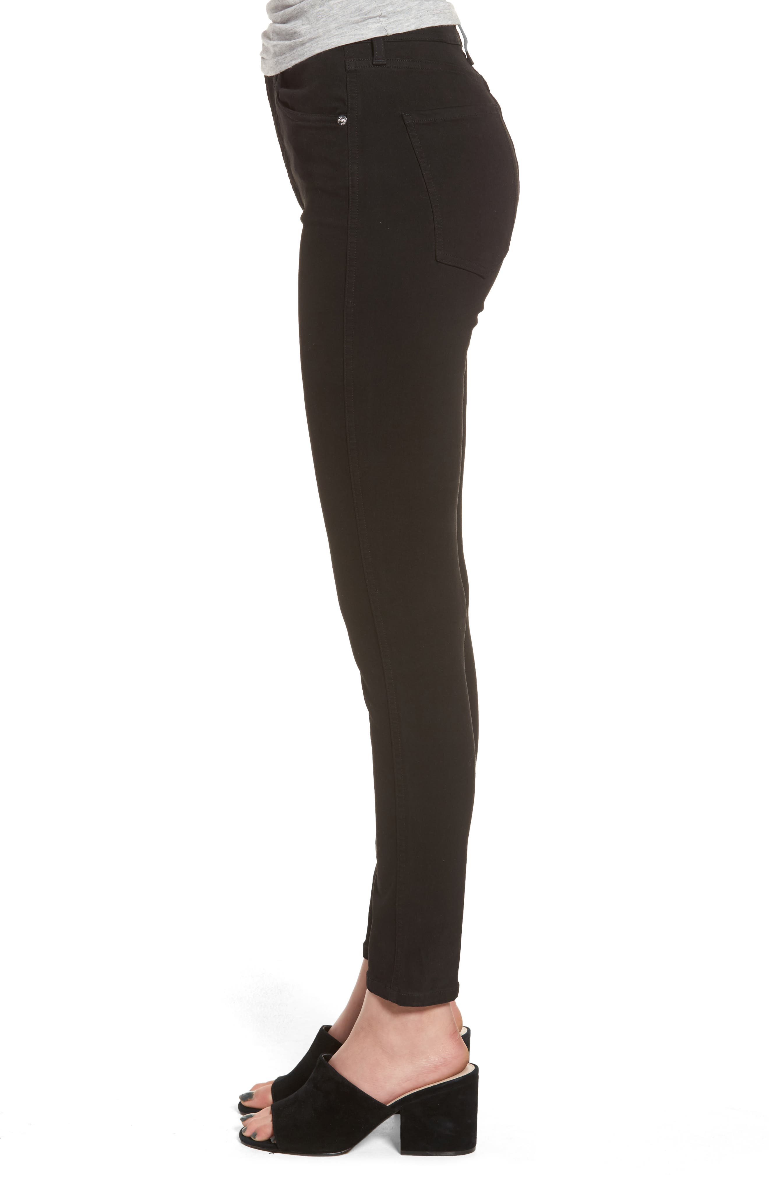 Roxanne Super High Rise Skinny Jeans,                             Alternate thumbnail 3, color,                             002